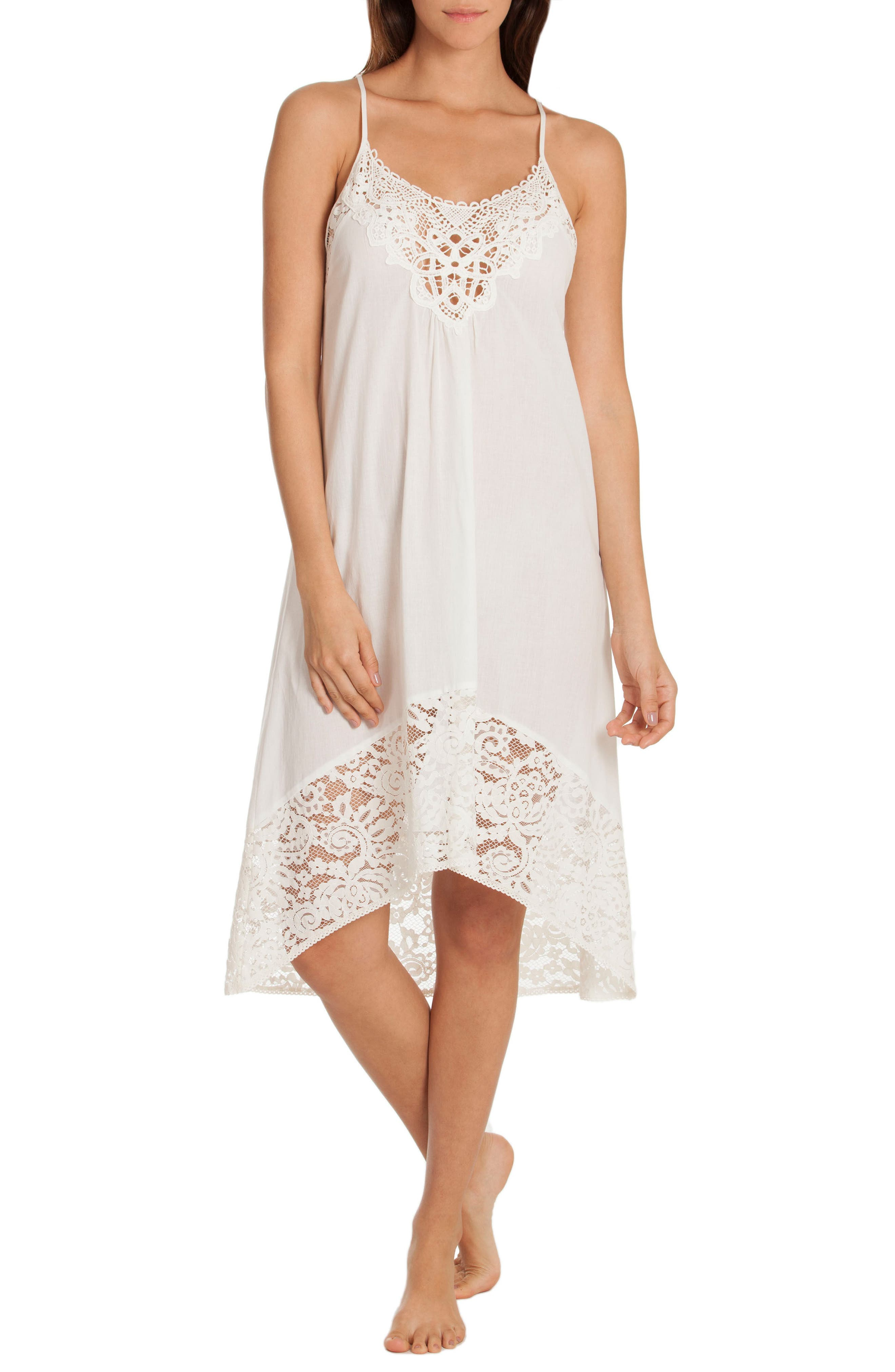 Nightgown,                             Main thumbnail 1, color,                             Ivory/ Beige