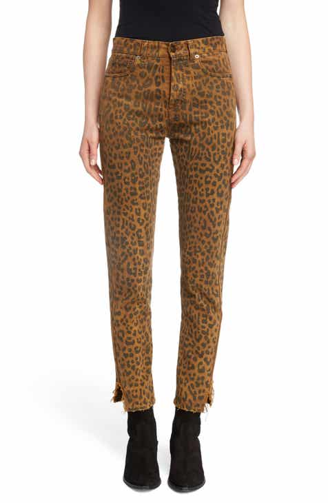 Saint Laurent Leopard Ankle Jeans by SAINT LAURENT