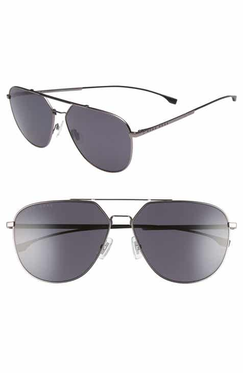 24fc9c76ddffb BOSS 63mm Polarized Aviator Sunglasses