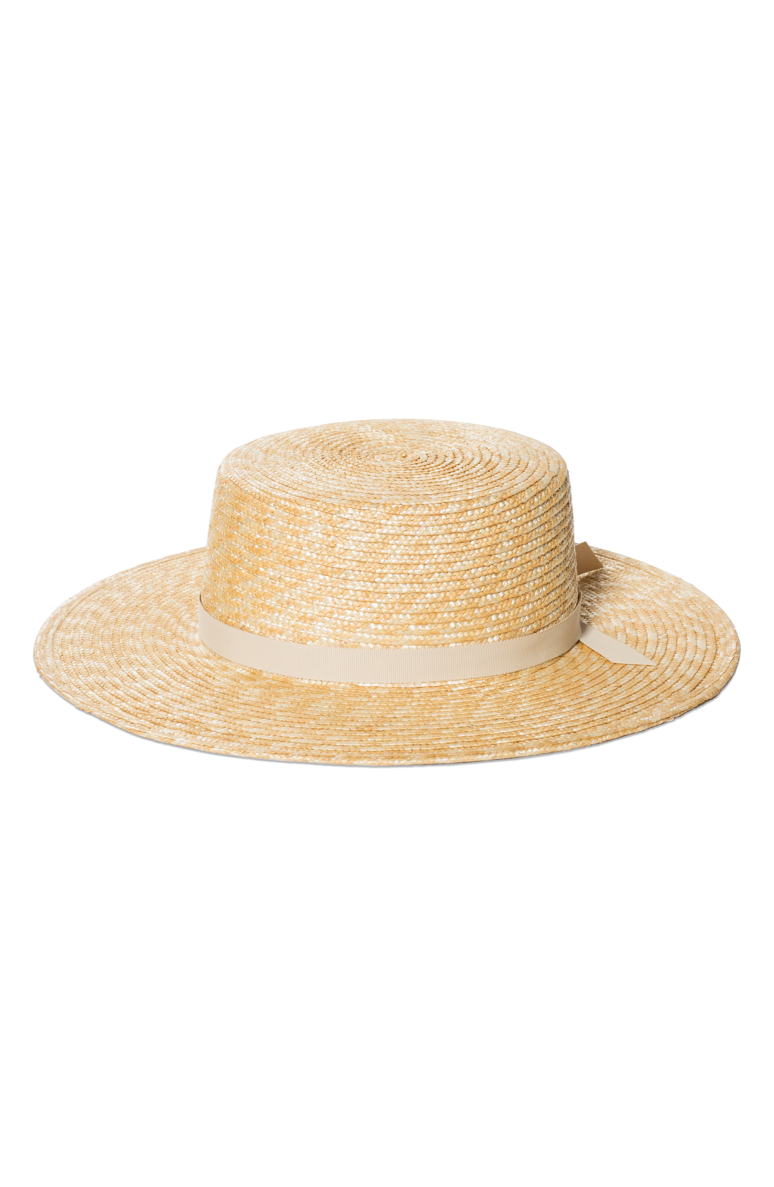 THE HIGHLAND STRAW BOATER HAT - BEIGE