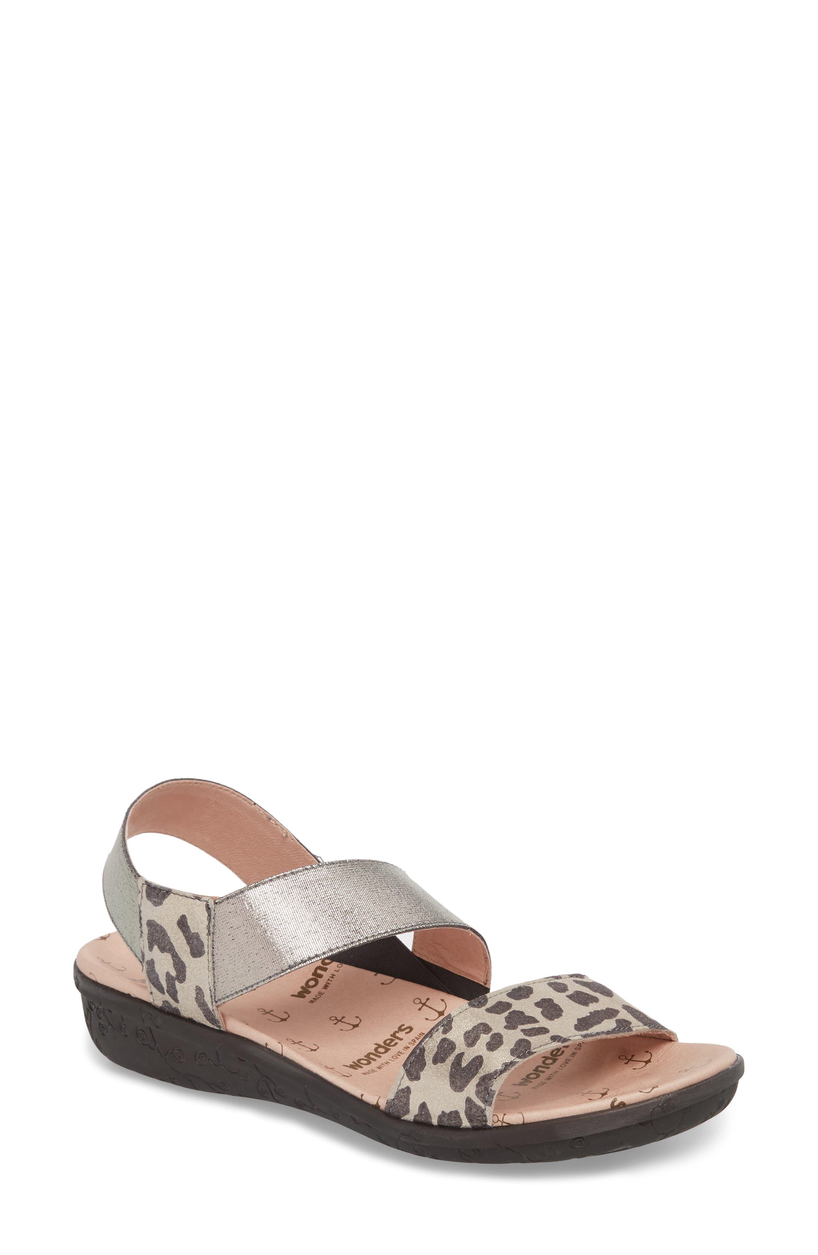 Slingback Sandal,                         Main,                         color, Leo Leather