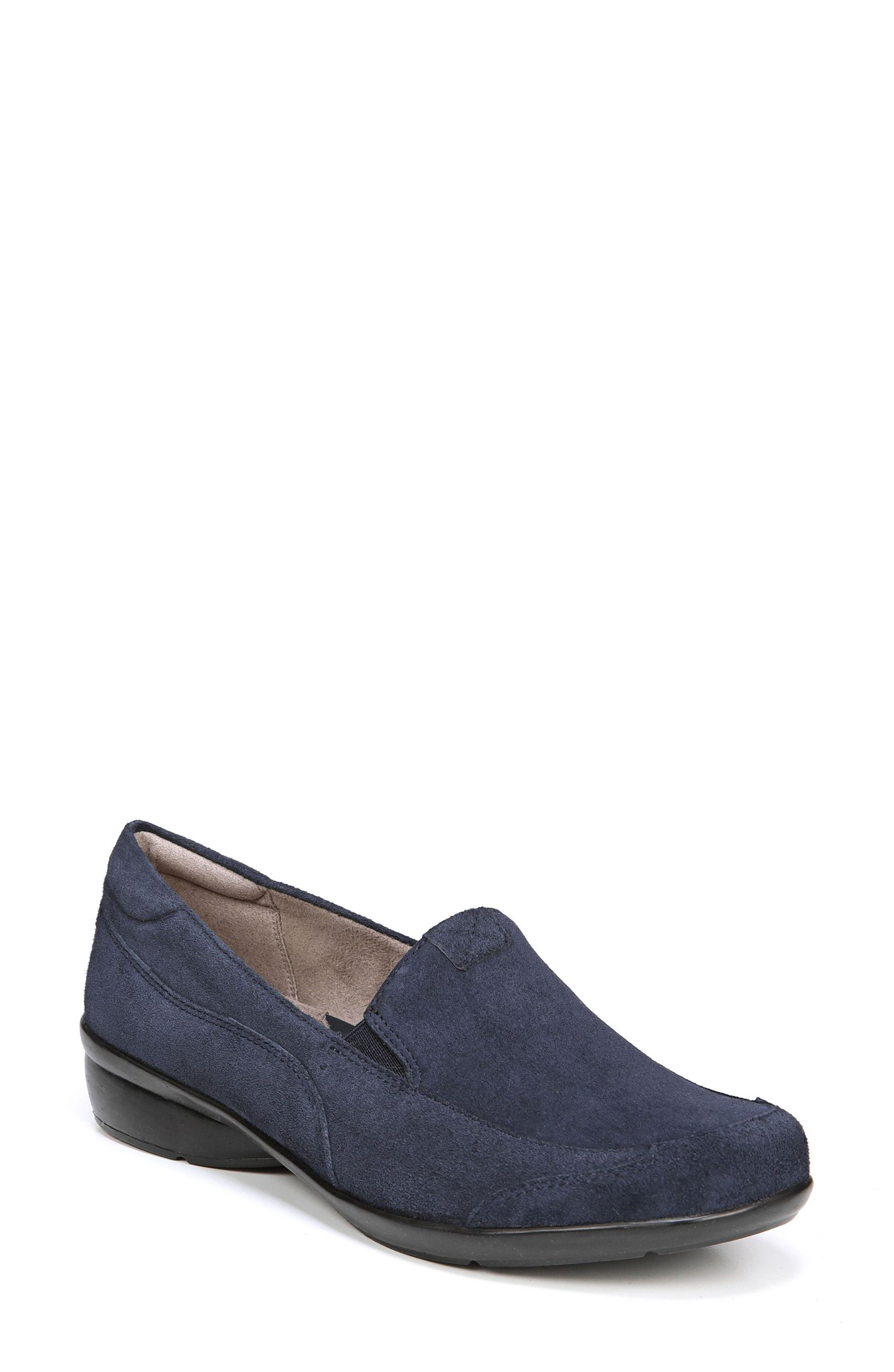 'Channing' Loafer,                             Main thumbnail 1, color,                             Navy Suede