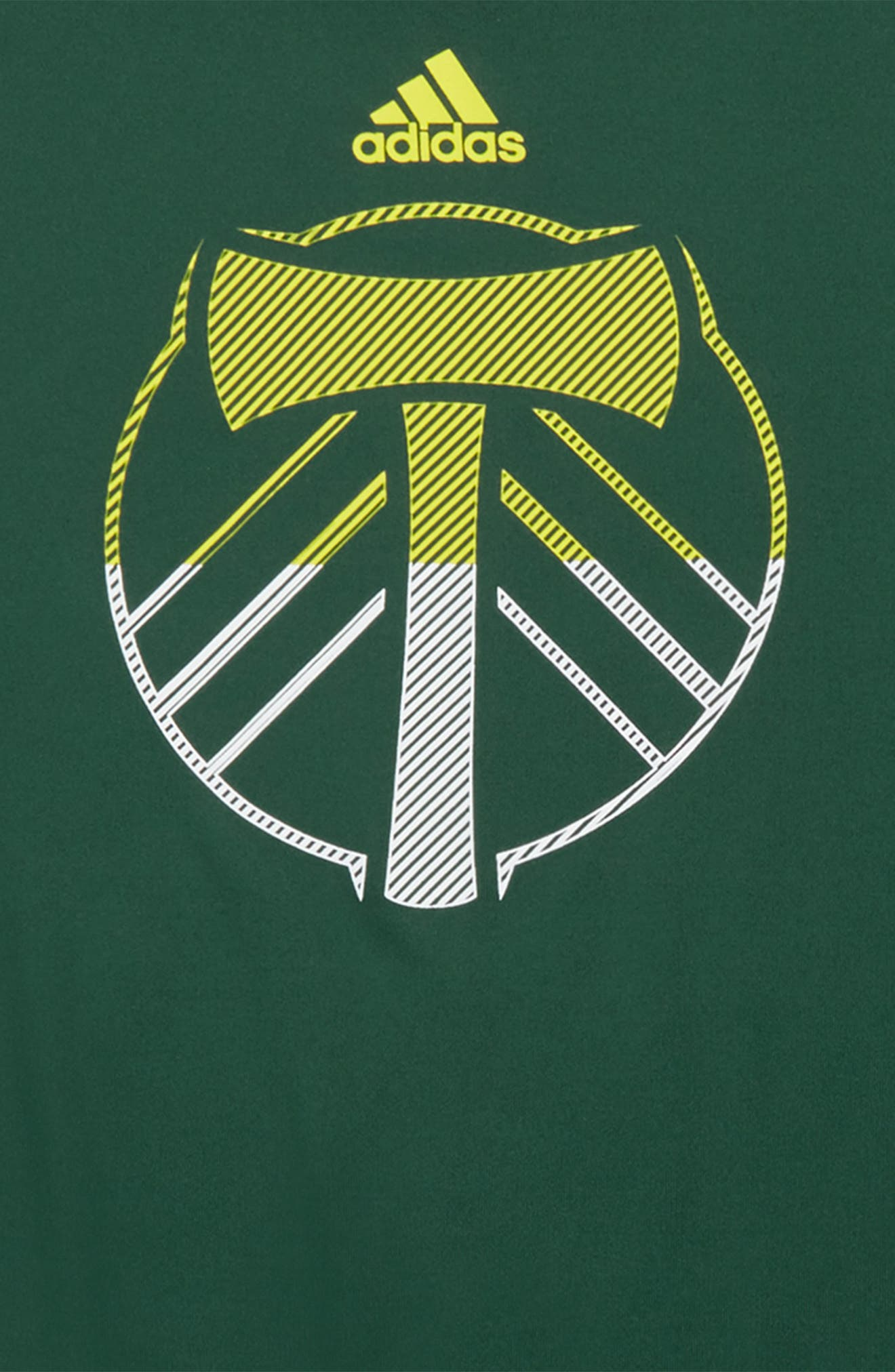 MLS Portland Timbers Climalite<sup>®</sup> T-Shirt,                             Alternate thumbnail 2, color,                             Ponderosa