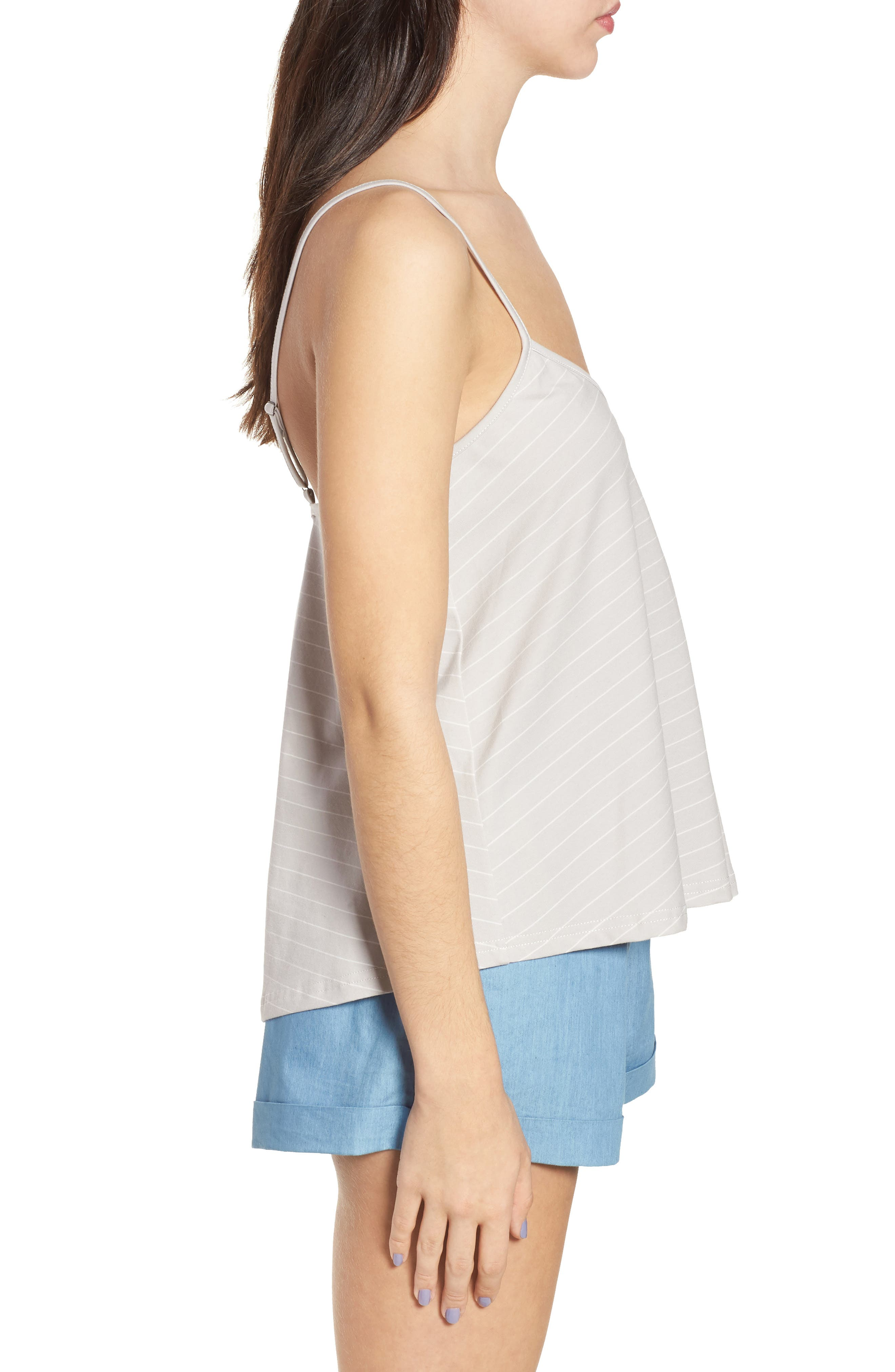 Harlow Stripe Camisole Top,                             Alternate thumbnail 4, color,                             Pewter