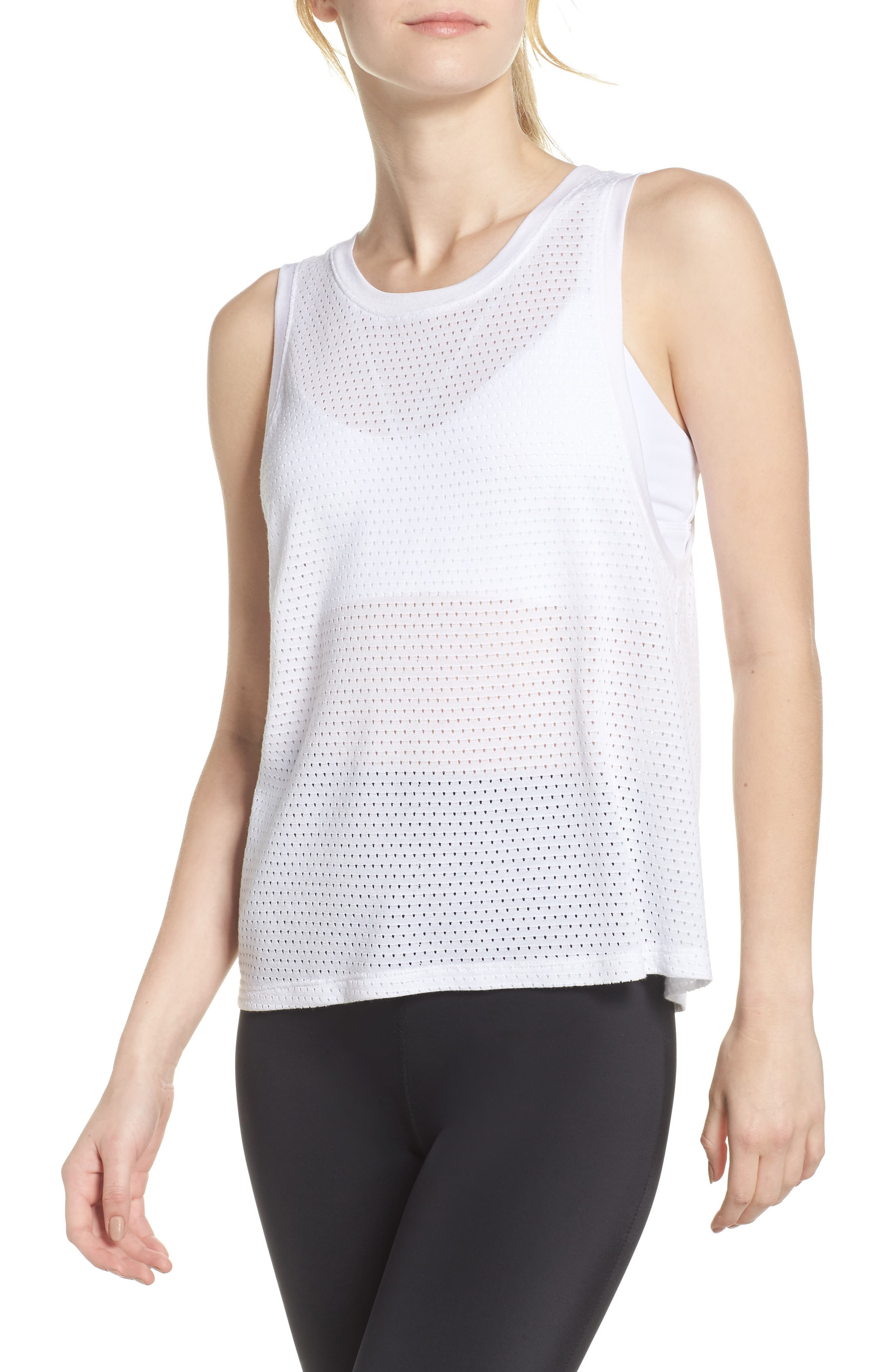 Mesh Me Up Muscle Tank,                         Main,                         color, White