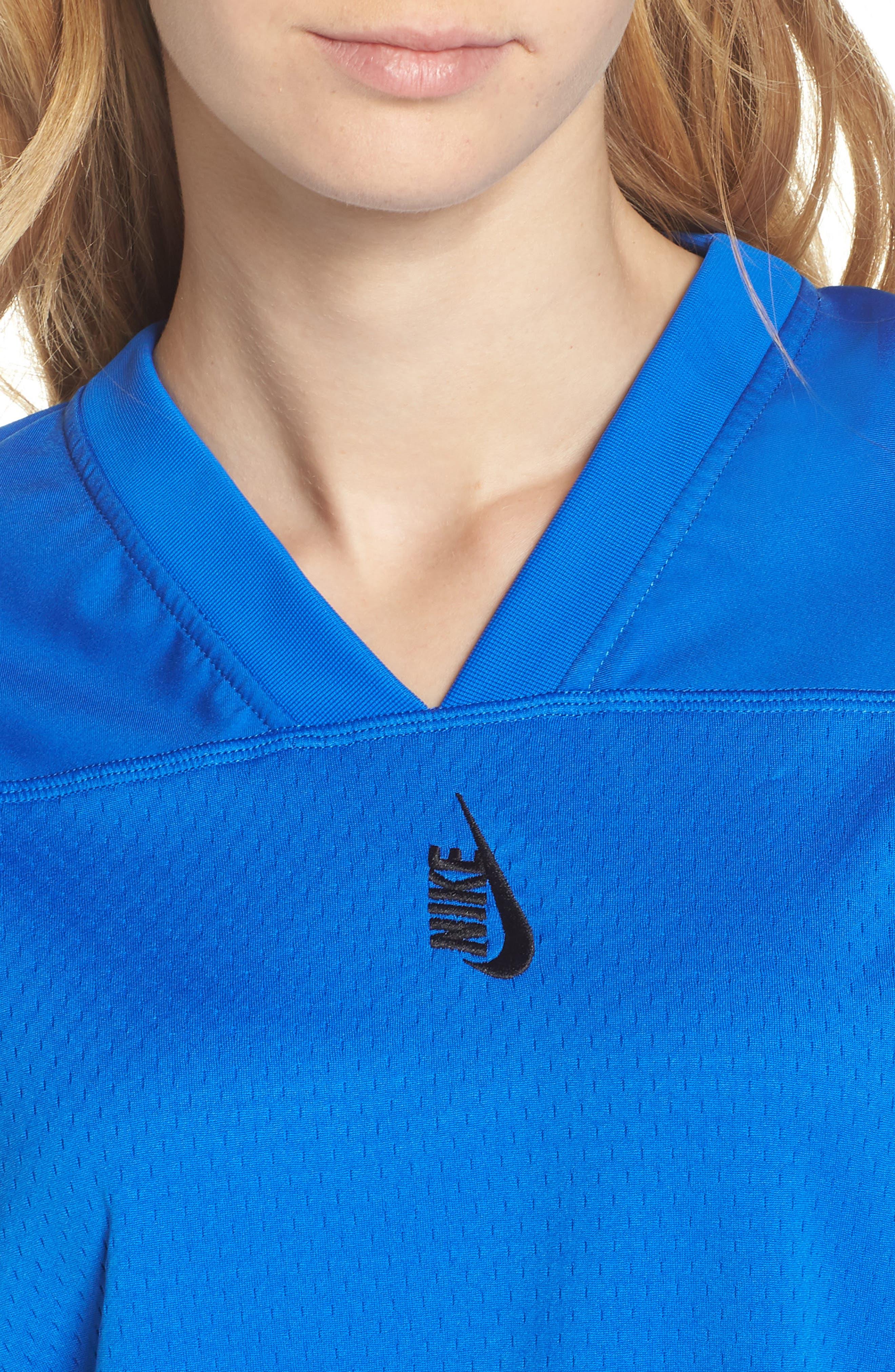 NikeLab Collection Football Top,                             Alternate thumbnail 4, color,                             Hyper Cobalt/ Black