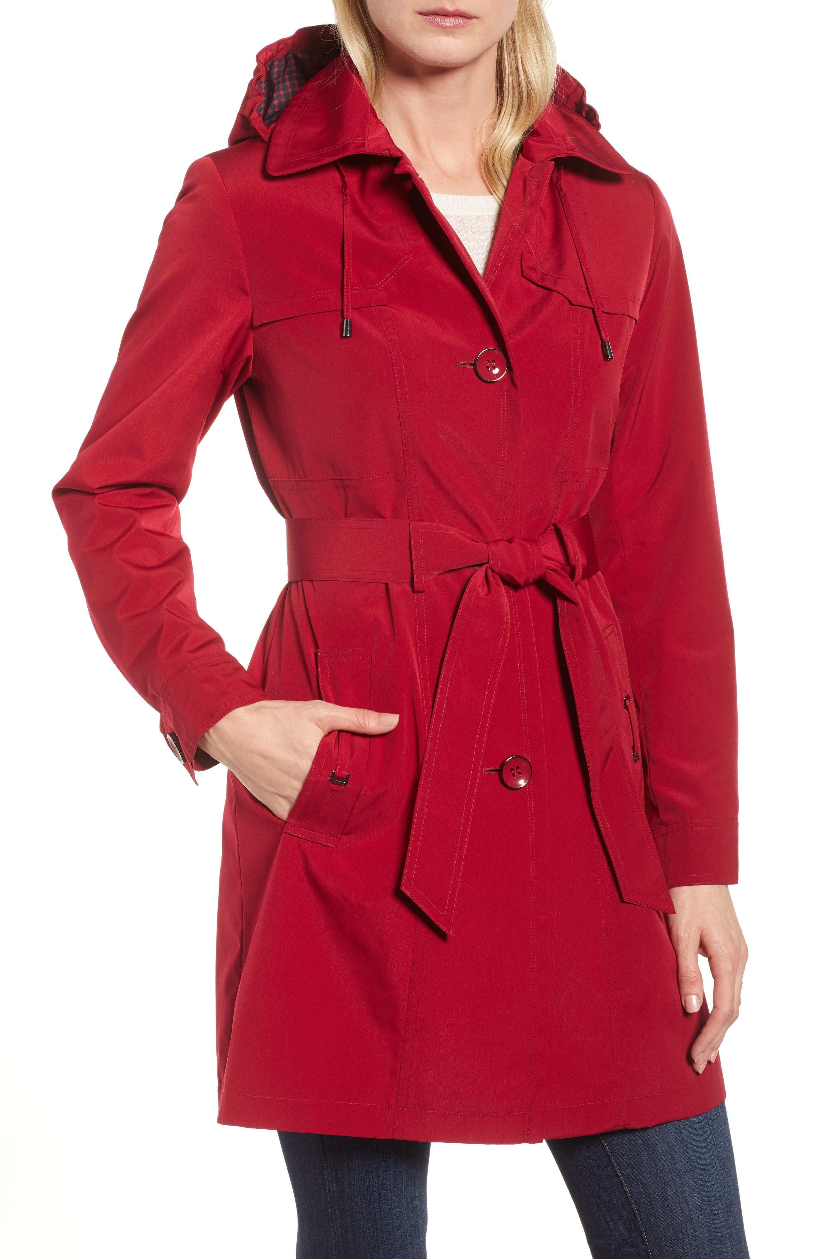 Gallery Belted Trench Raincoat (Regular & Petite)