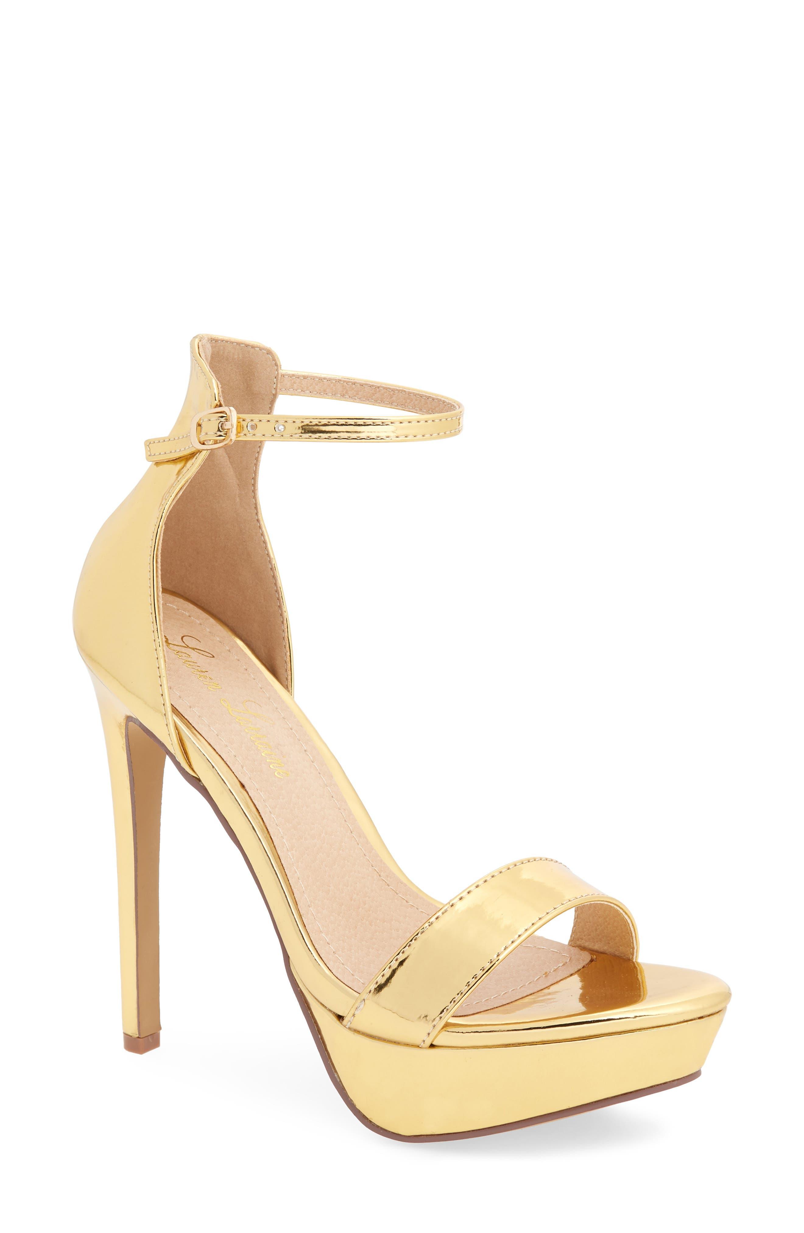 Darlene Platform Sandal,                             Main thumbnail 1, color,                             Gold