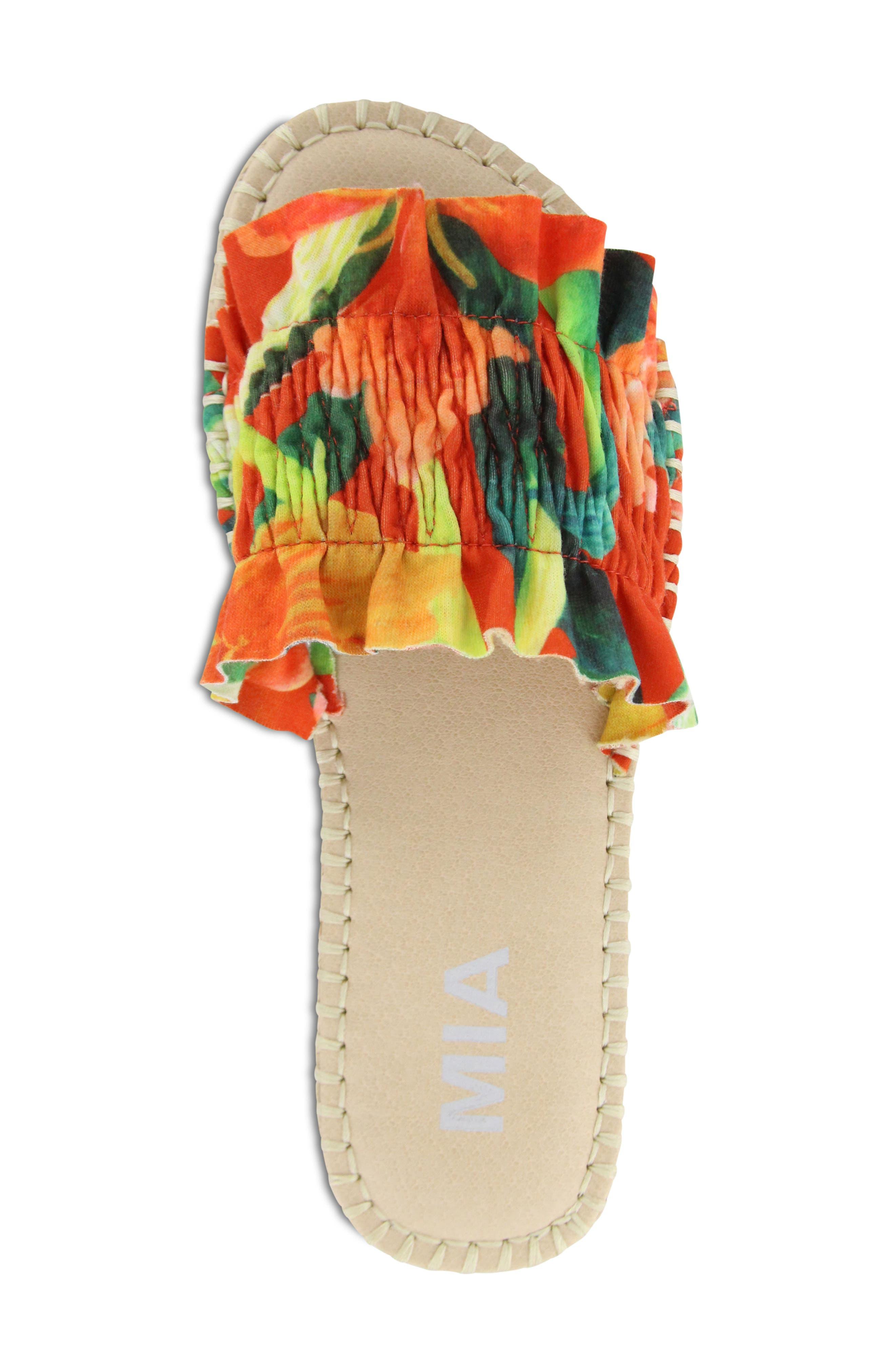 Annalise Sandal,                             Alternate thumbnail 5, color,                             Red Amazon Scrunch Fabric