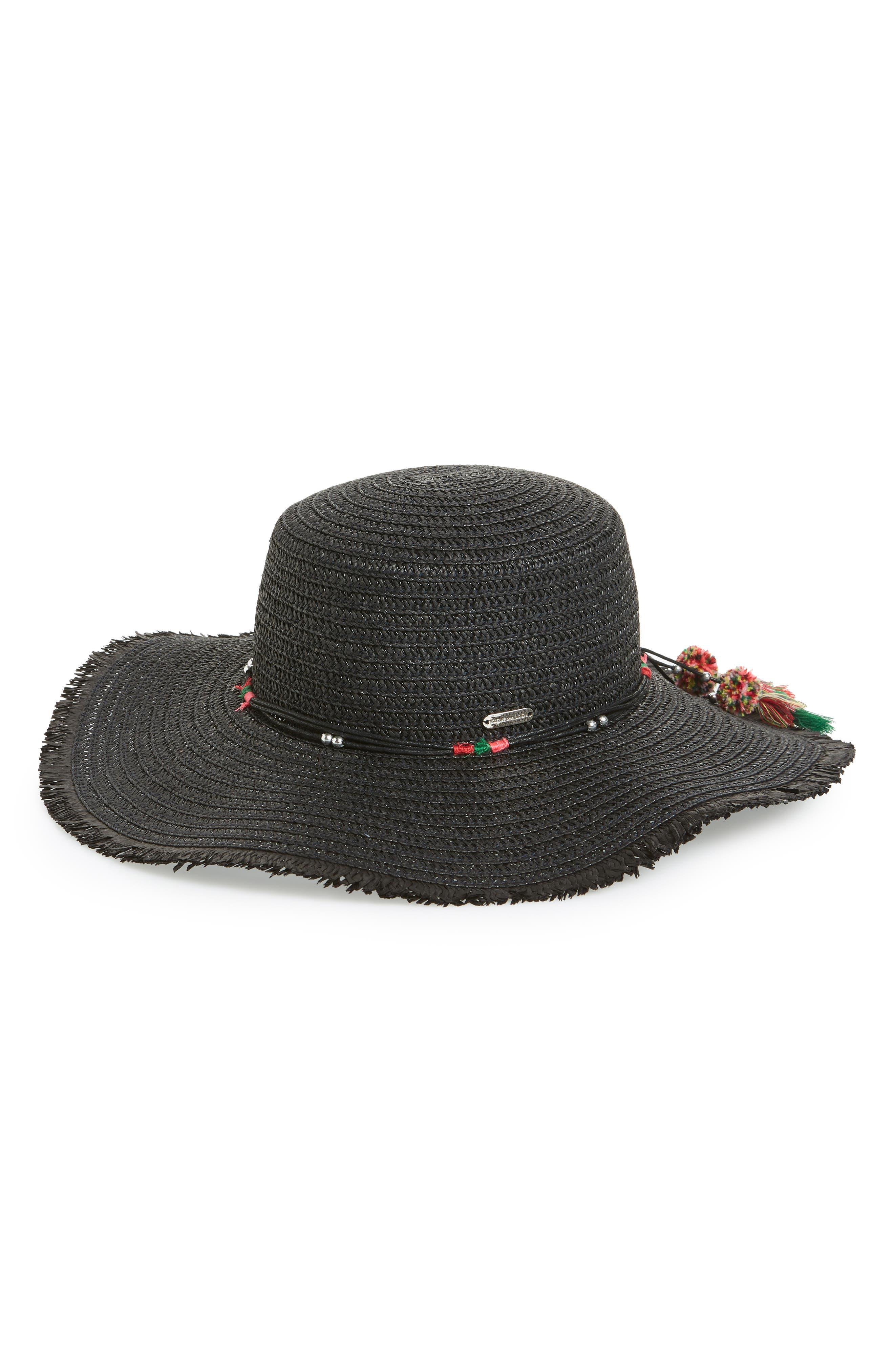 Steve Madden Tassel Detail Straw Hat