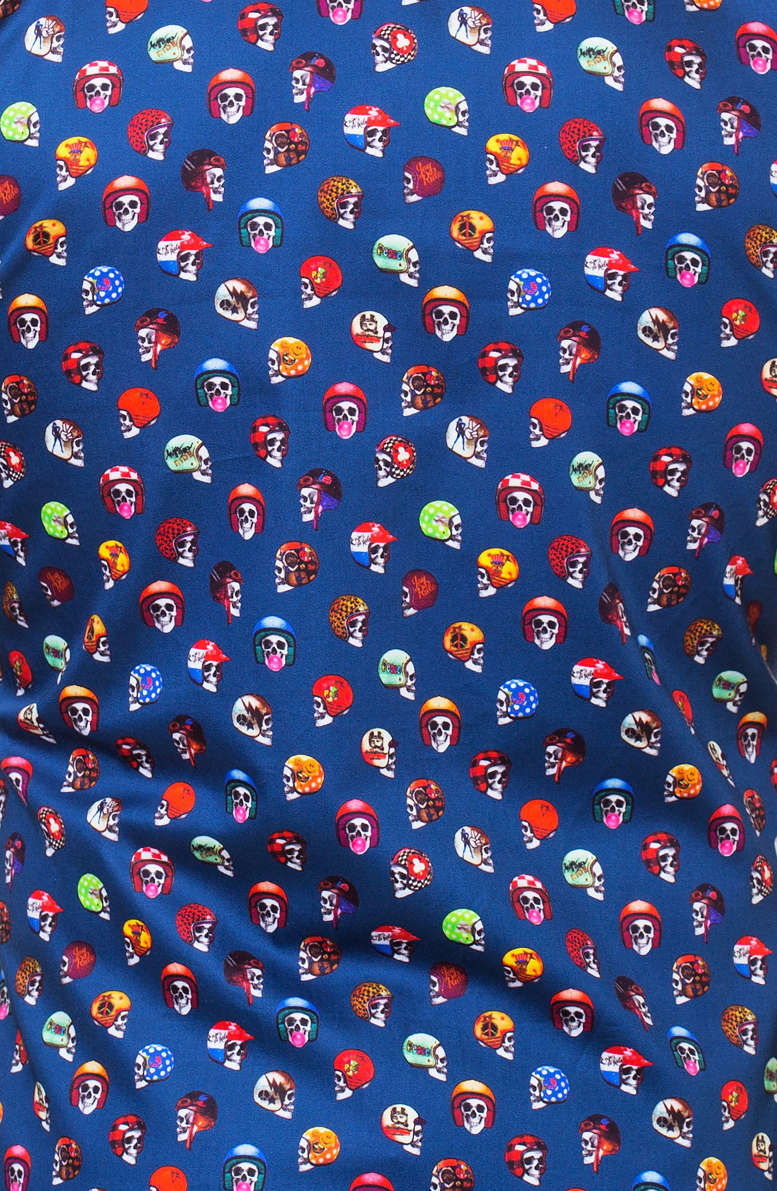 Luxor Rider Slim Fit Sport Shirt,                             Alternate thumbnail 4, color,                             Blue
