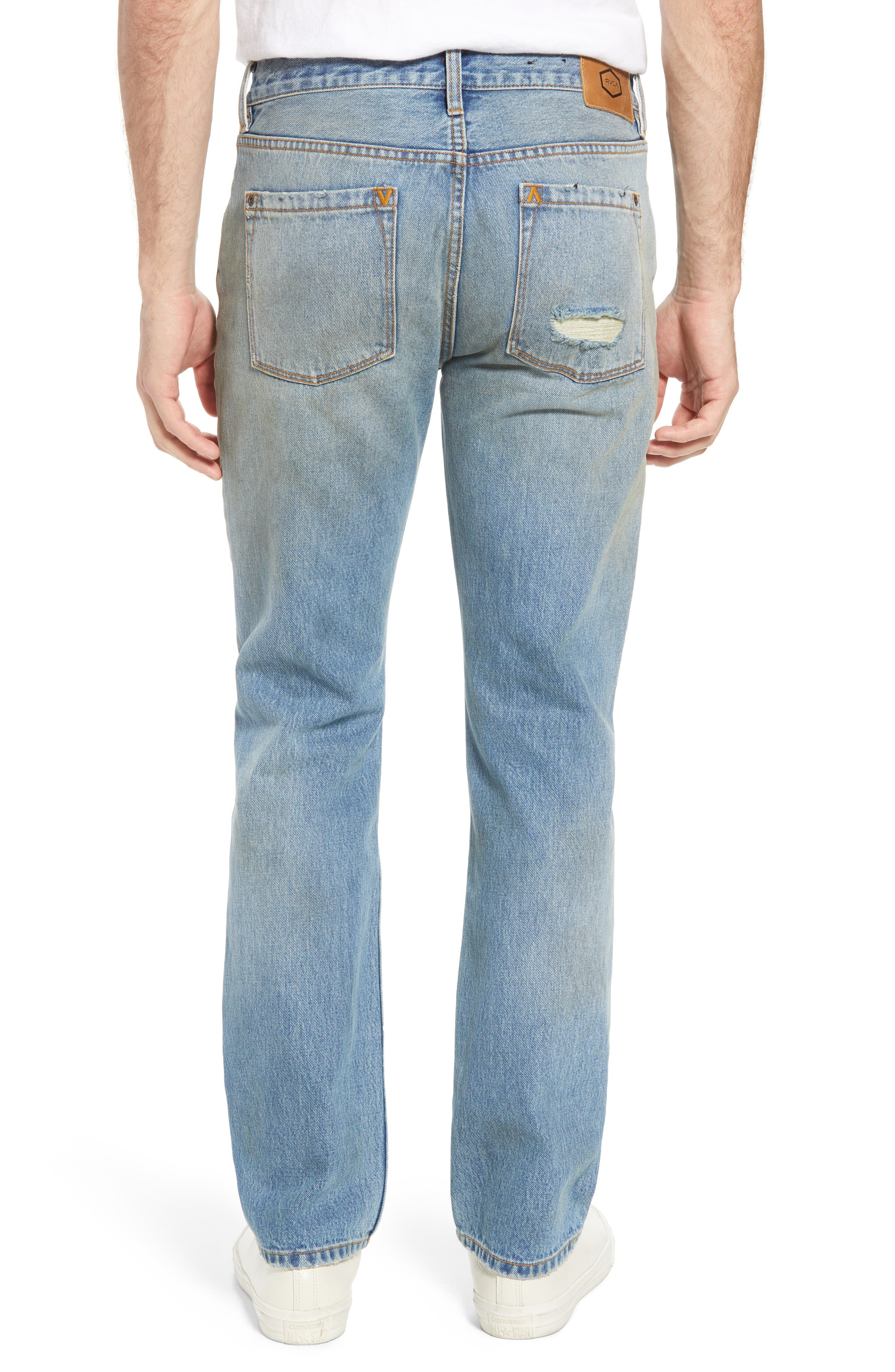 Stay RVCA Slim Fit Jeans,                             Alternate thumbnail 2, color,                             Blue