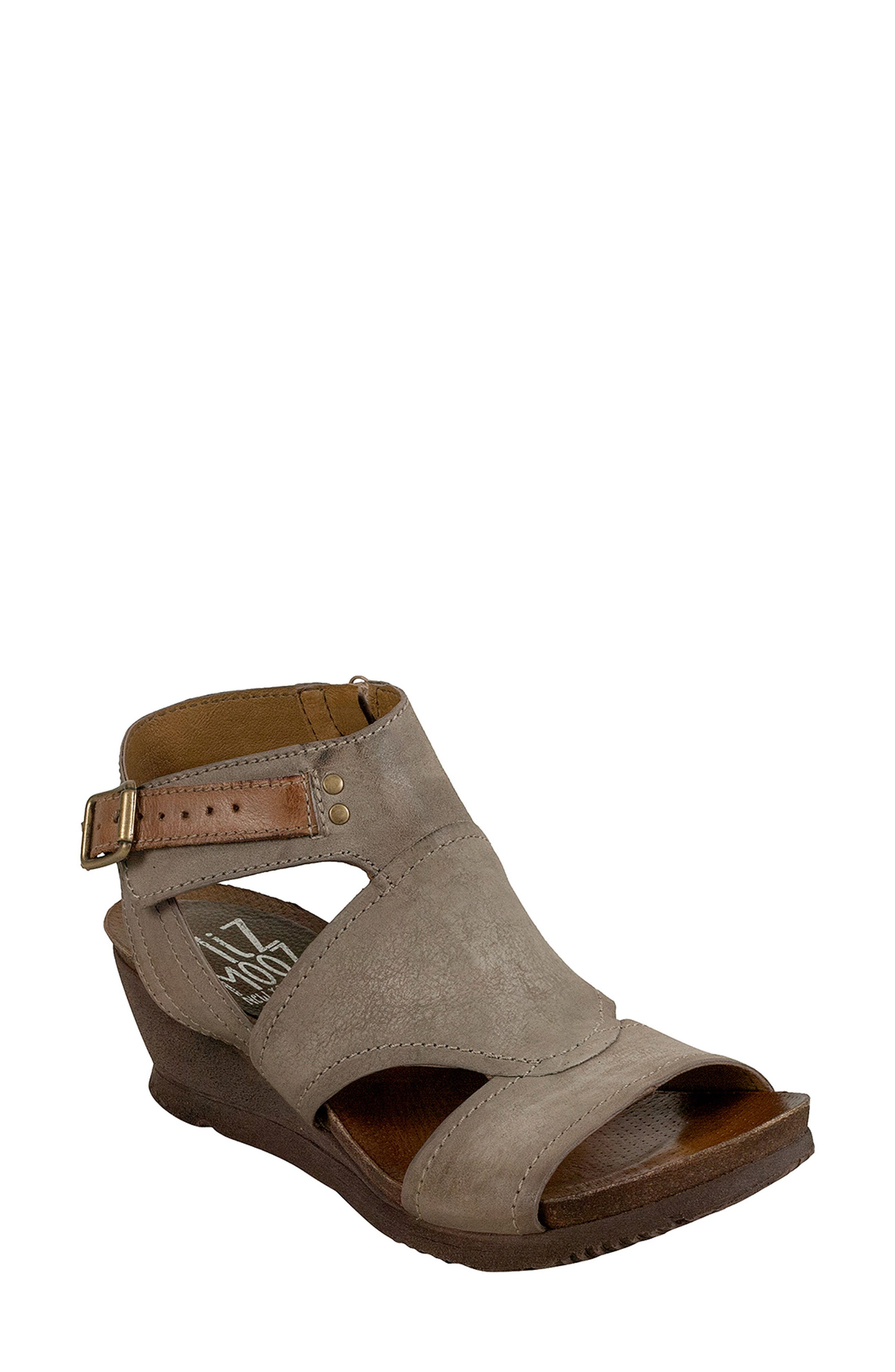 Scout Wedge Sandal,                         Main,                         color, Pebble Leather