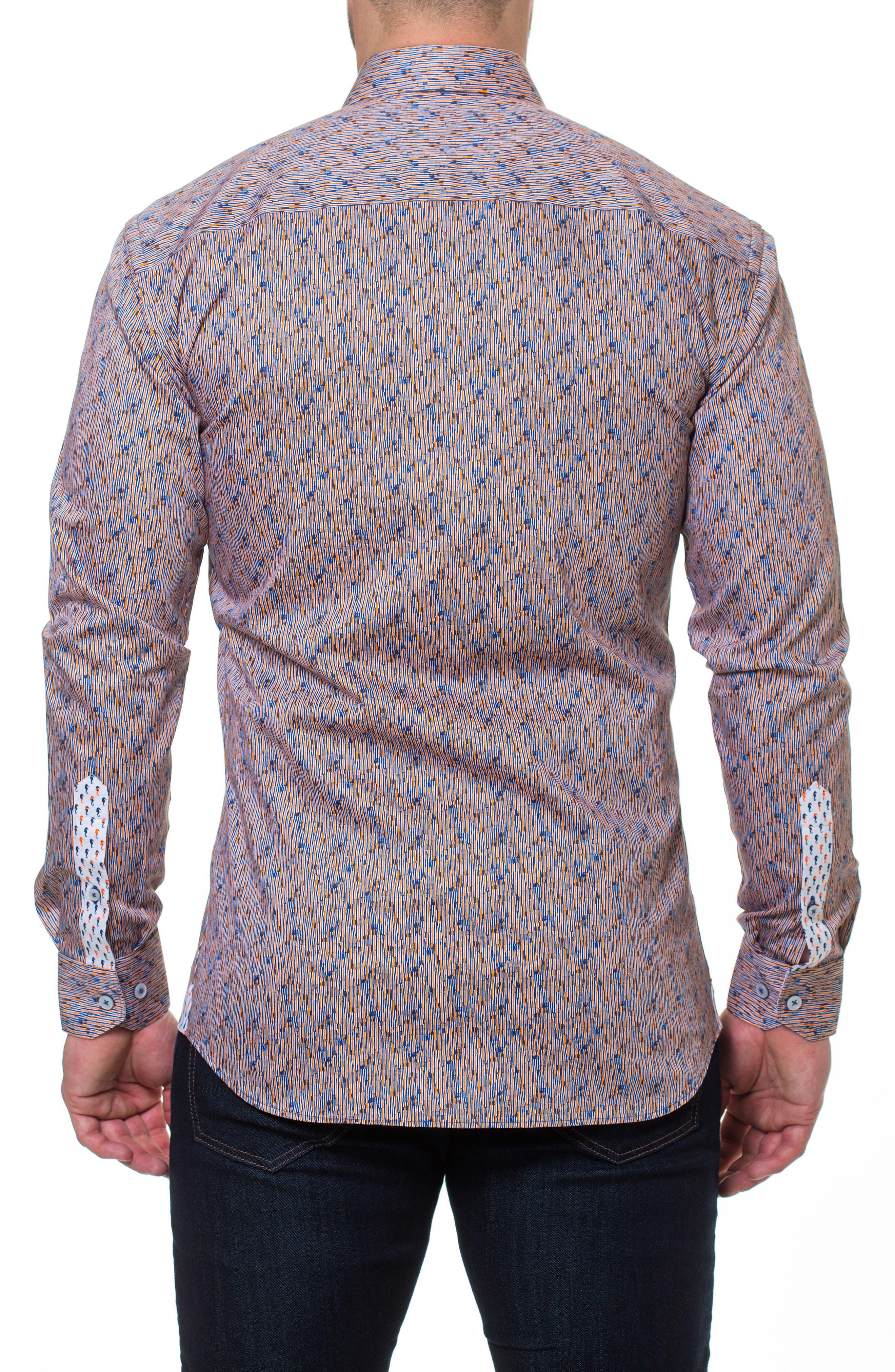 Luxor Strokes Slim Fit Sport Shirt,                             Alternate thumbnail 2, color,                             Orange