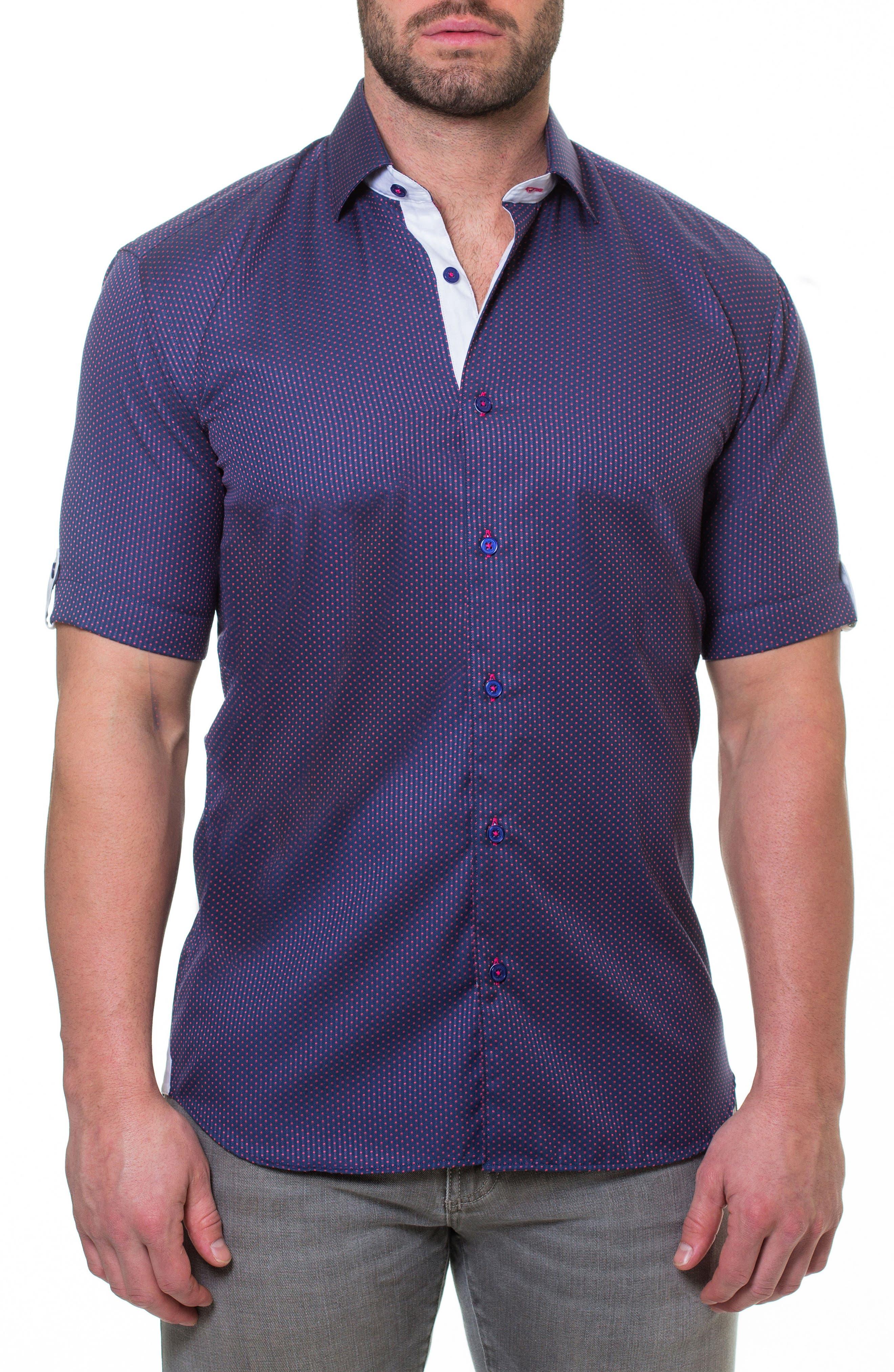 Fresh Pace Slim Fit Sport Shirt,                             Main thumbnail 1, color,                             Purple