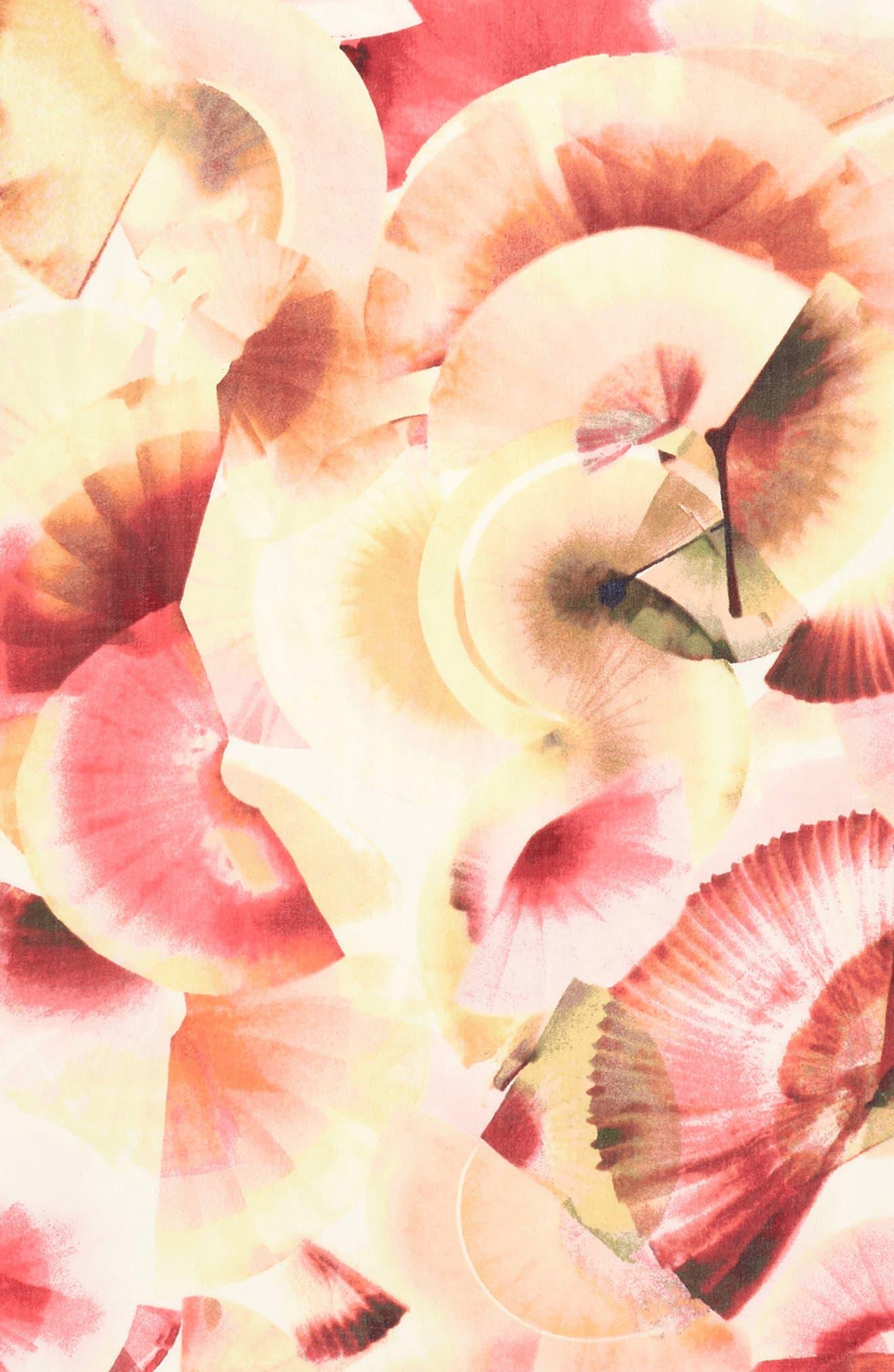 Eyelash Trim Print Cashmere & Silk Wrap,                             Alternate thumbnail 4, color,                             Pink Fanning Dots