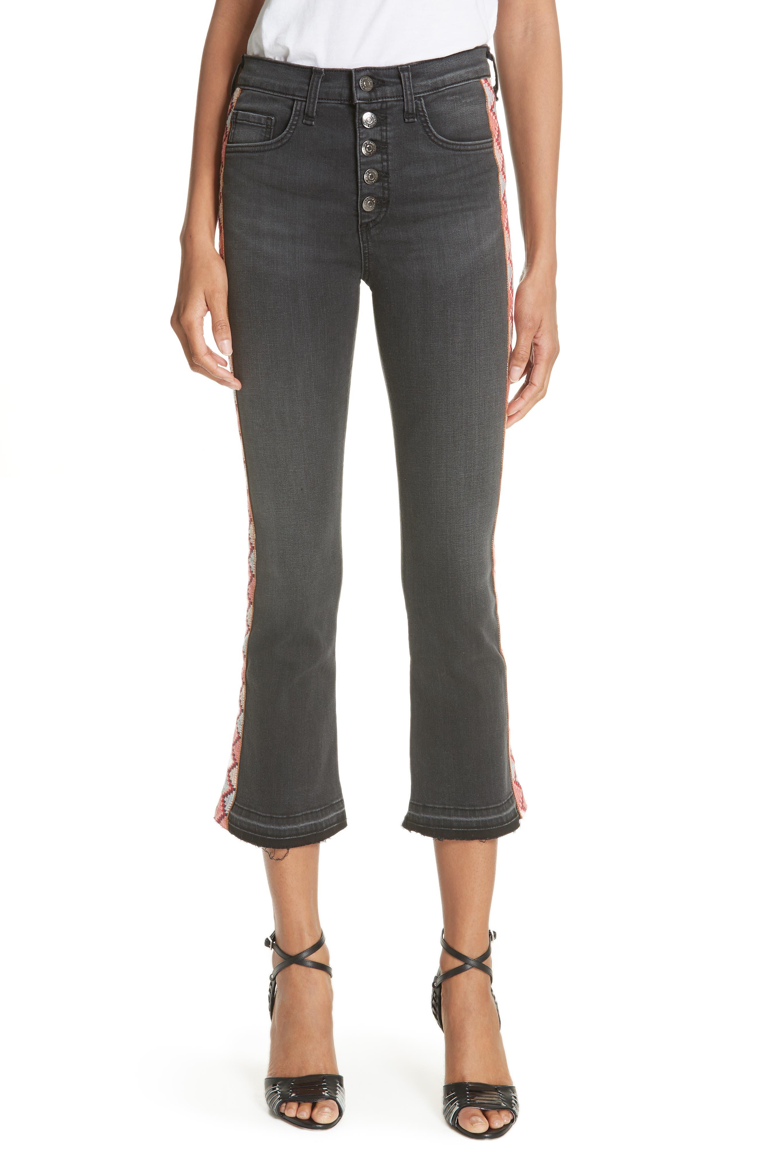 Veronica Beard Carolyn Ribbon Stripe Baby Boot Jeans
