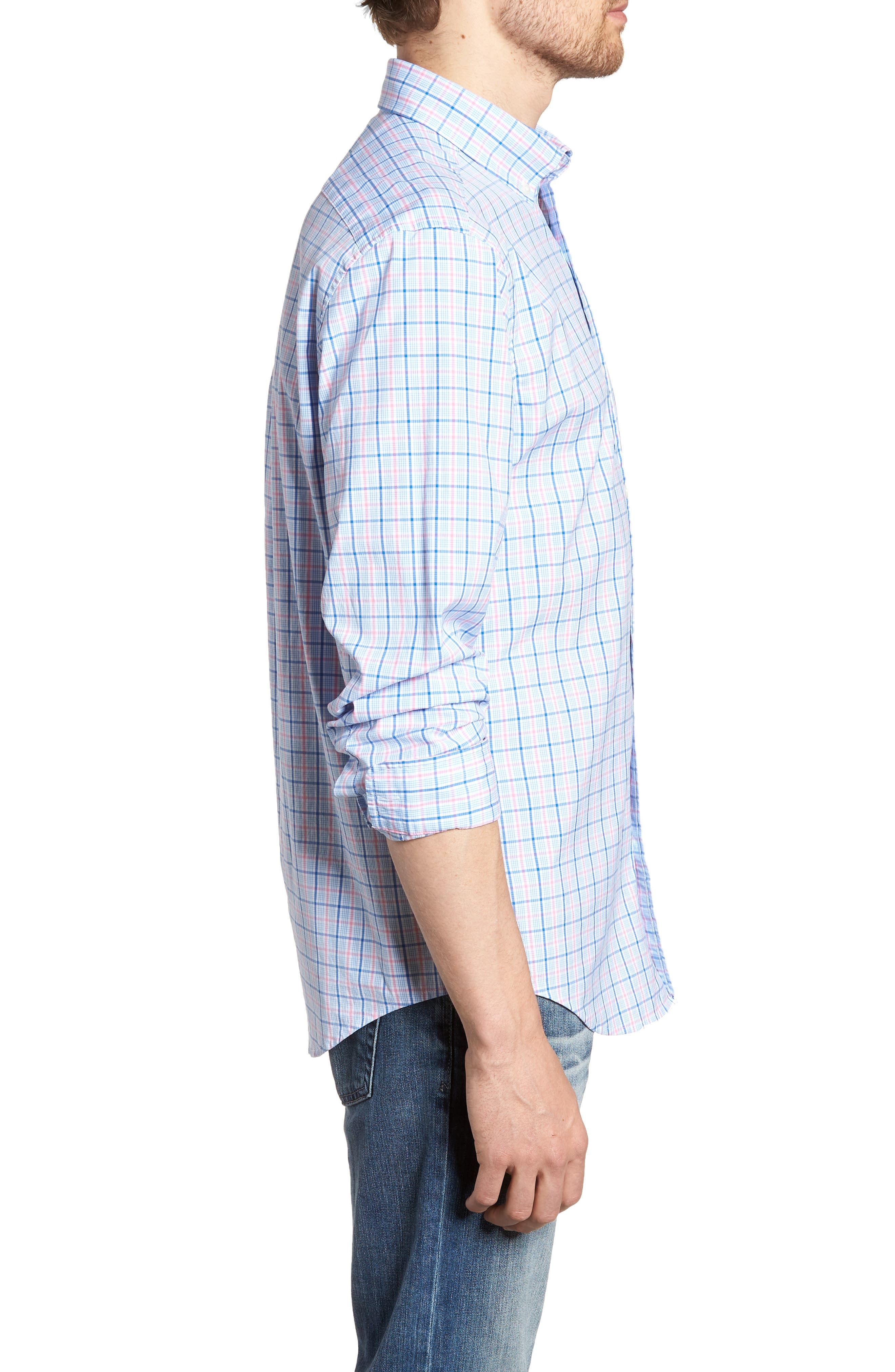 Sir Christie Classic Fit Check Sport Shirt,                             Alternate thumbnail 4, color,                             Spinnaker
