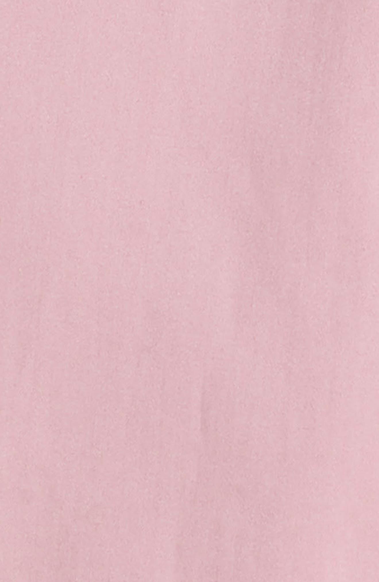 Oversize Sleeve Tunic Dress,                             Alternate thumbnail 4, color,                             Dusky Pink