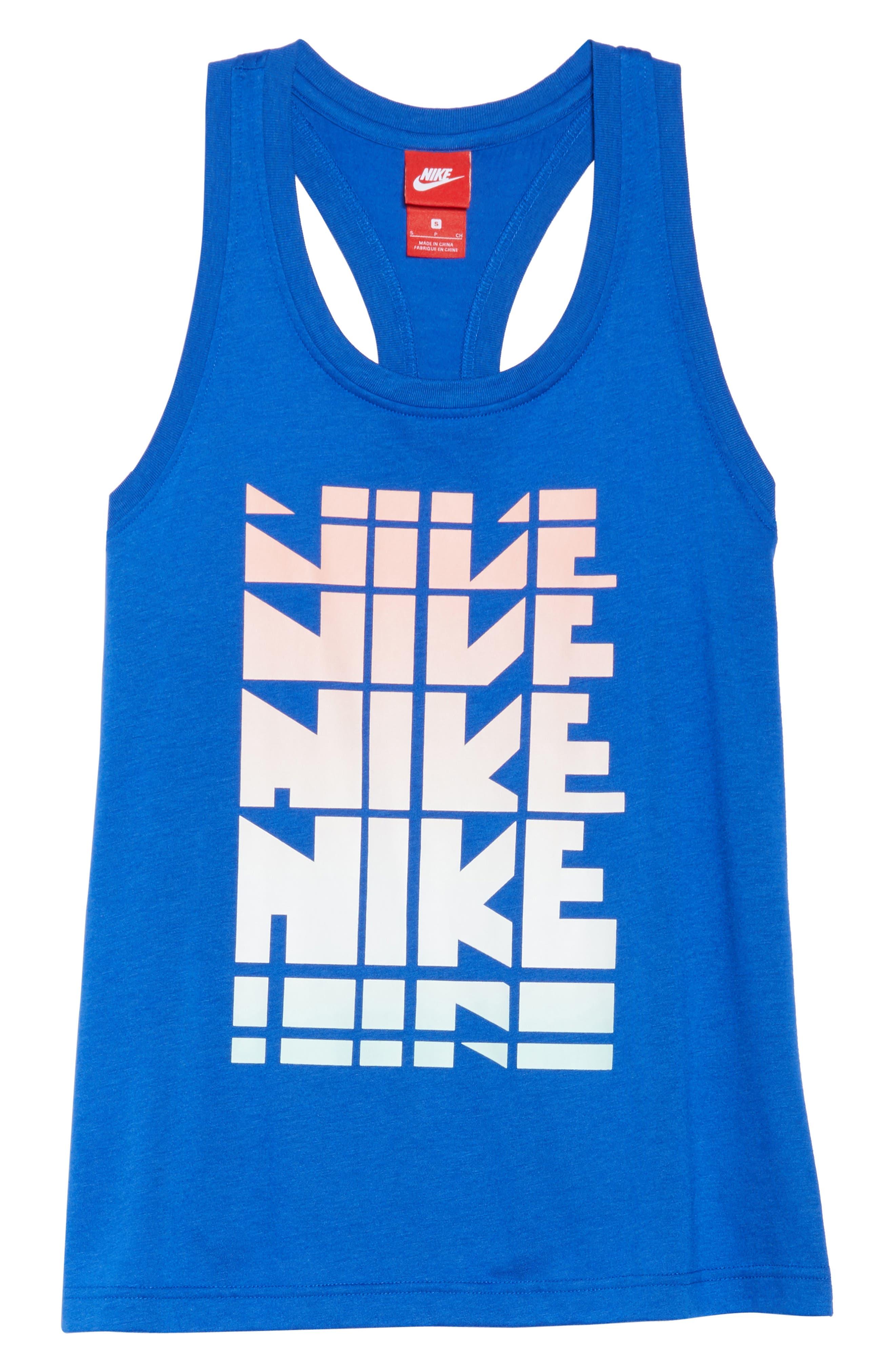 Sportswear Logo Graphic Tank,                             Alternate thumbnail 7, color,                             Game Royal