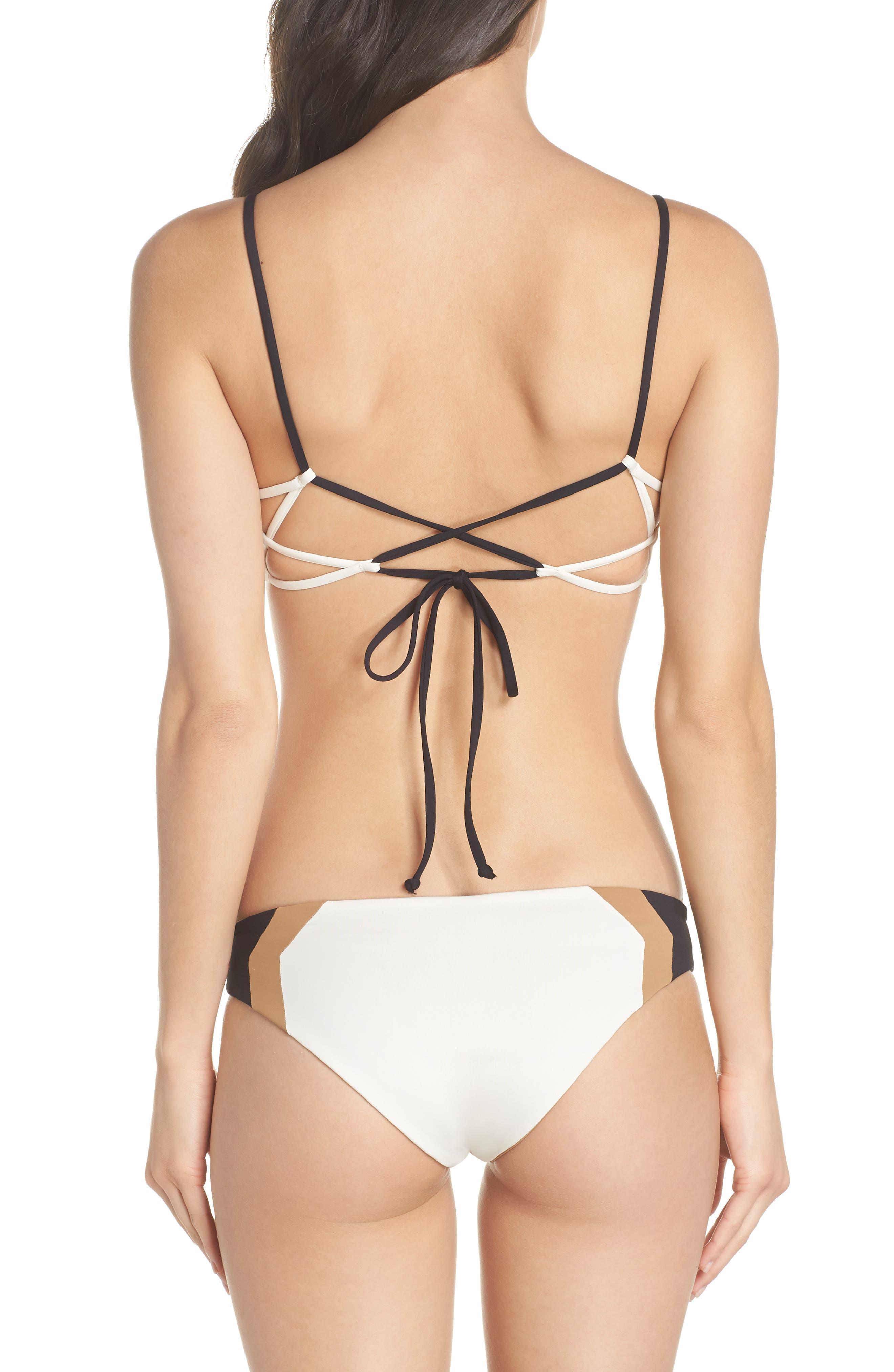 Baracuda Reversible Classic Hipster Bikini Bottoms,                             Alternate thumbnail 8, color,                             Cream/ Black/ Camel