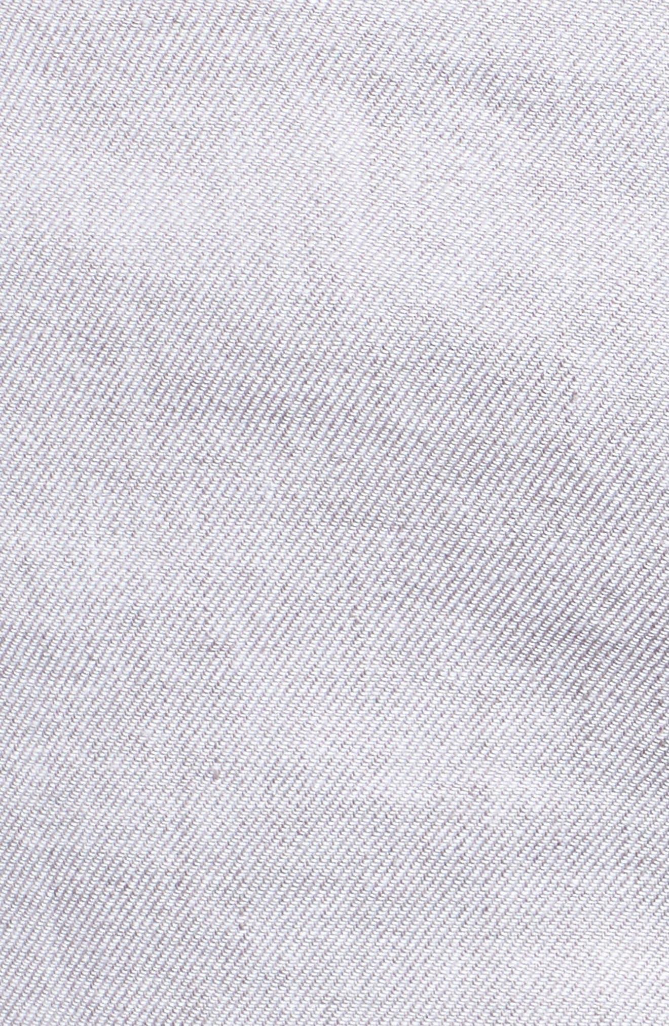 Beach Linen Blend Shorts,                             Alternate thumbnail 5, color,                             Storm Gray