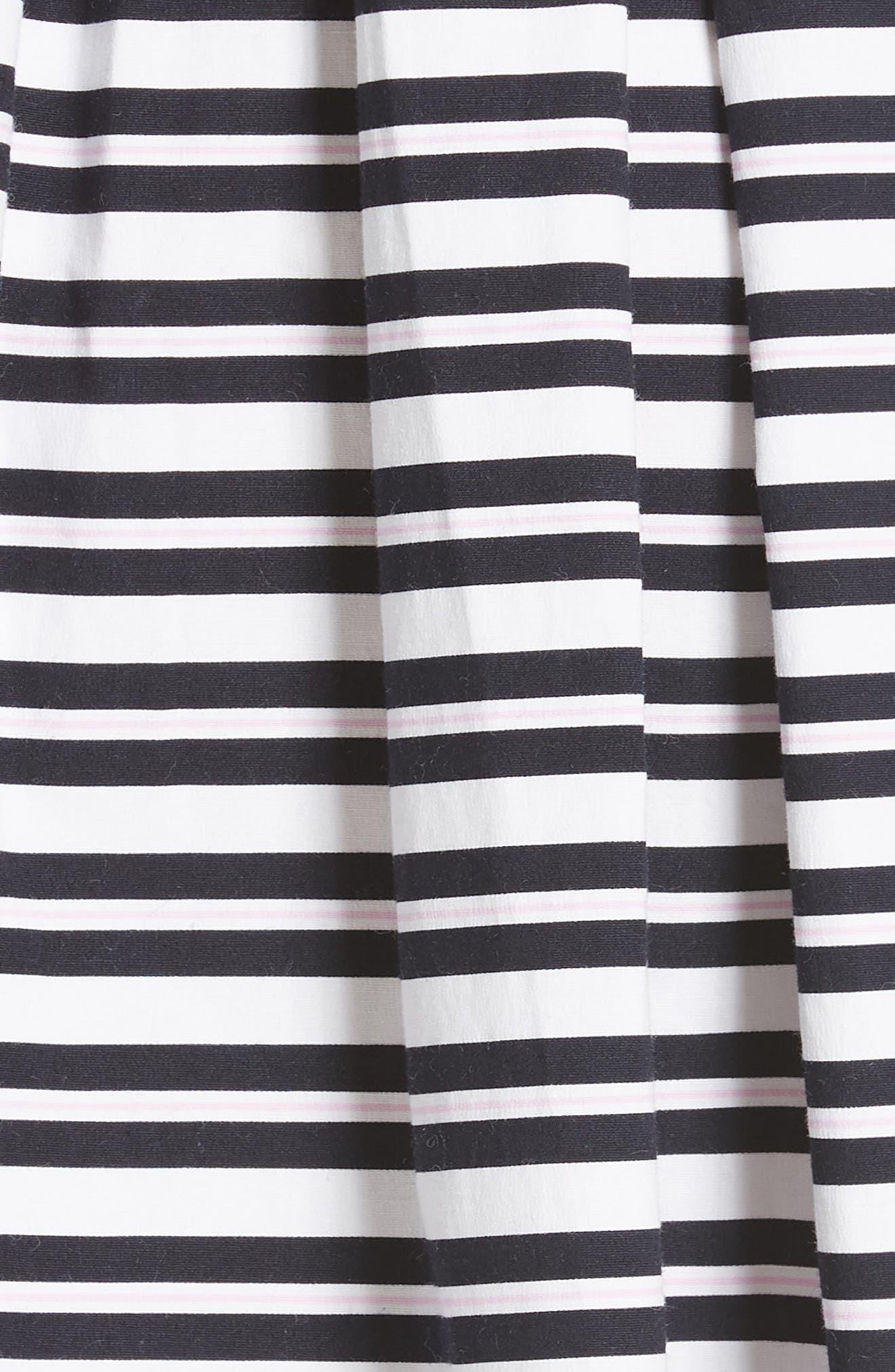 candy stripe stretch cotton shirtdress,                             Alternate thumbnail 5, color,                             Rich Navy