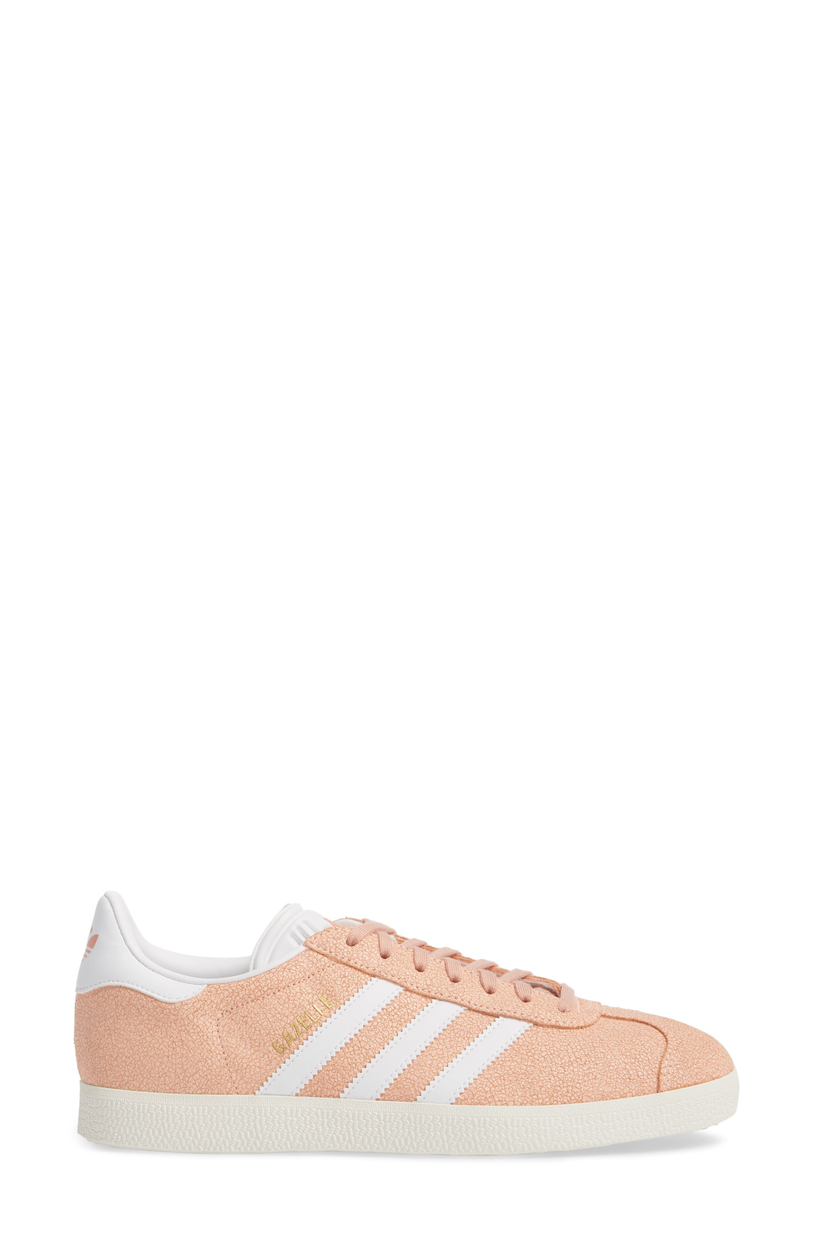 Gazelle Sneaker,                             Alternate thumbnail 3, color,                             Clear Orange/ White/ Off White