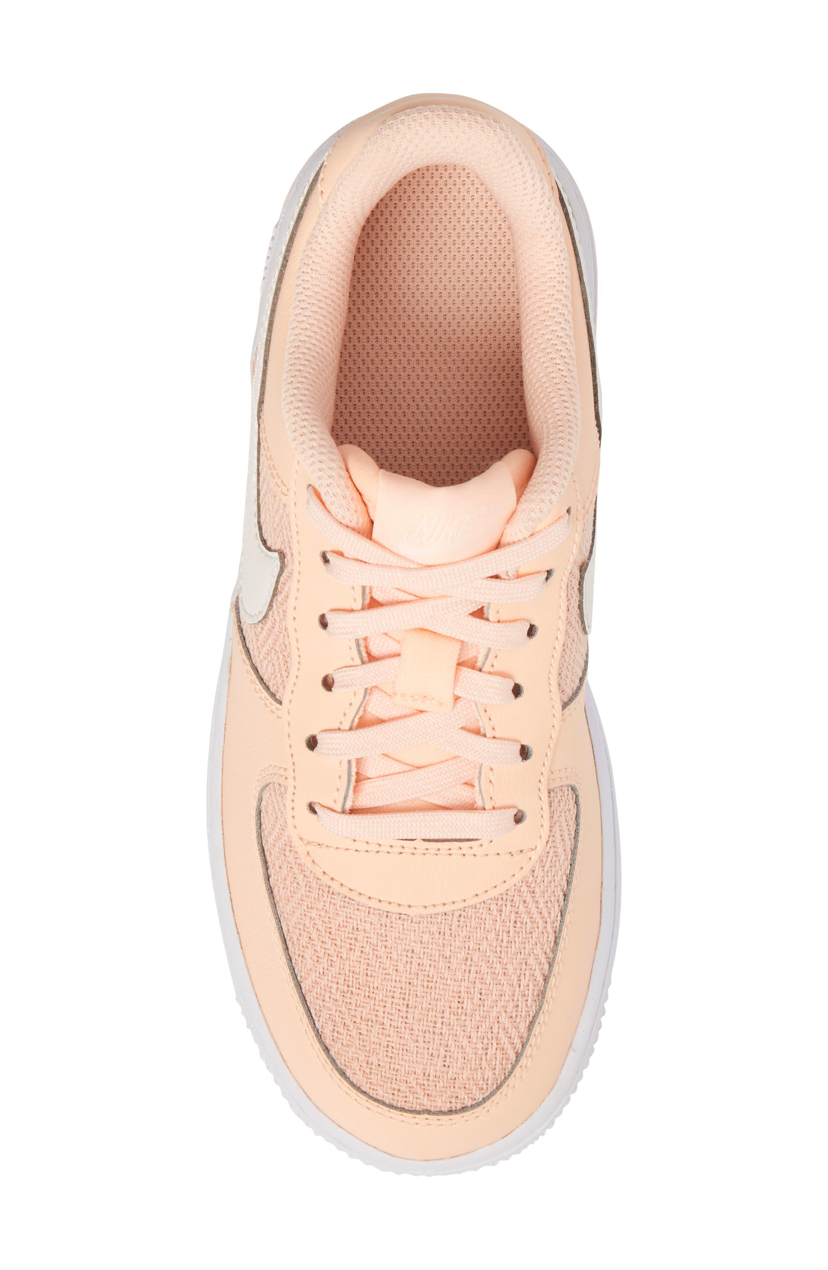 Air Force 1 LV8 Sneaker,                             Alternate thumbnail 5, color,                             Crimson Tint/ Sail/ White