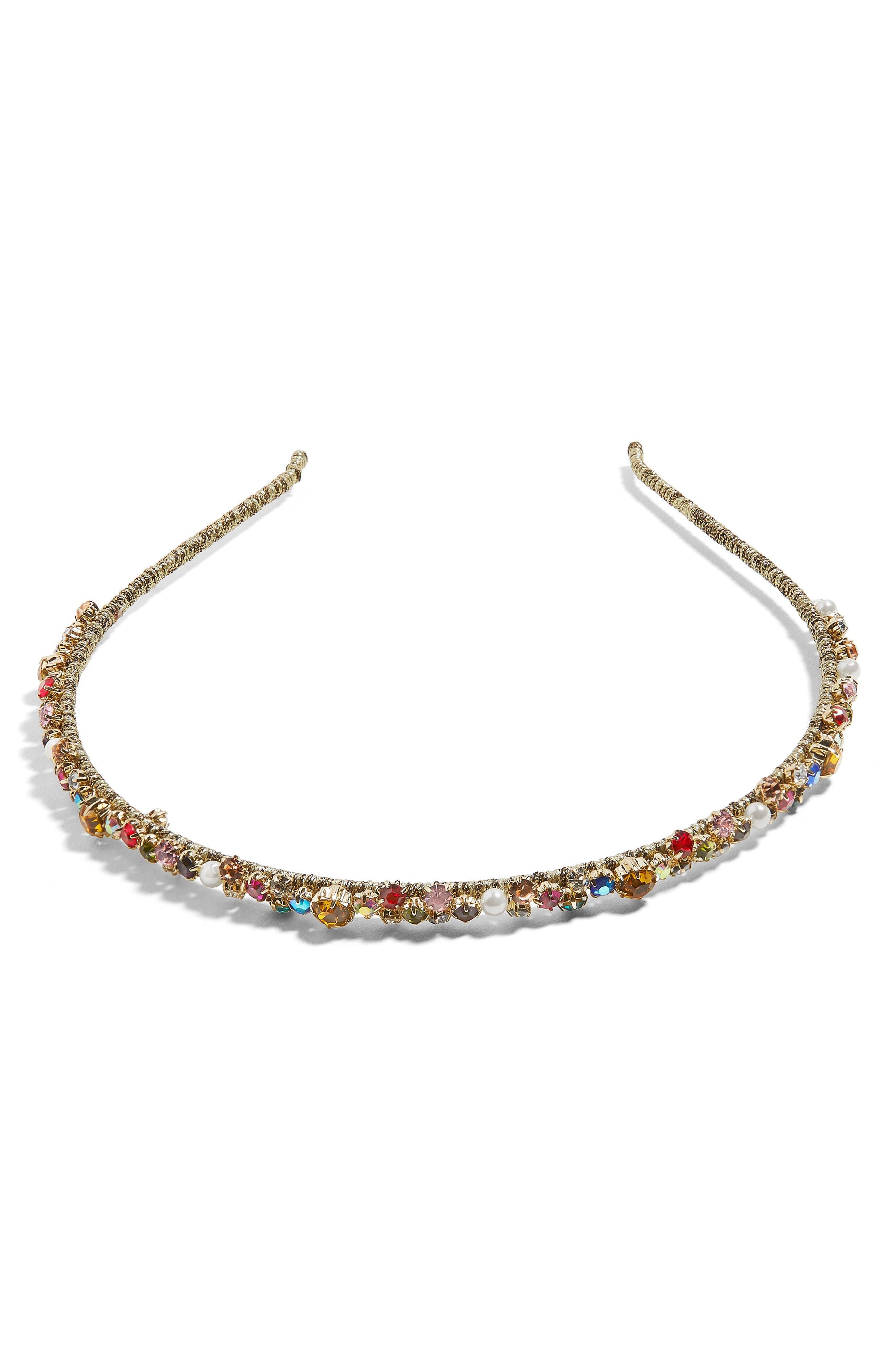 Emmaretta Embellished Headband,                             Main thumbnail 1, color,                             Multi