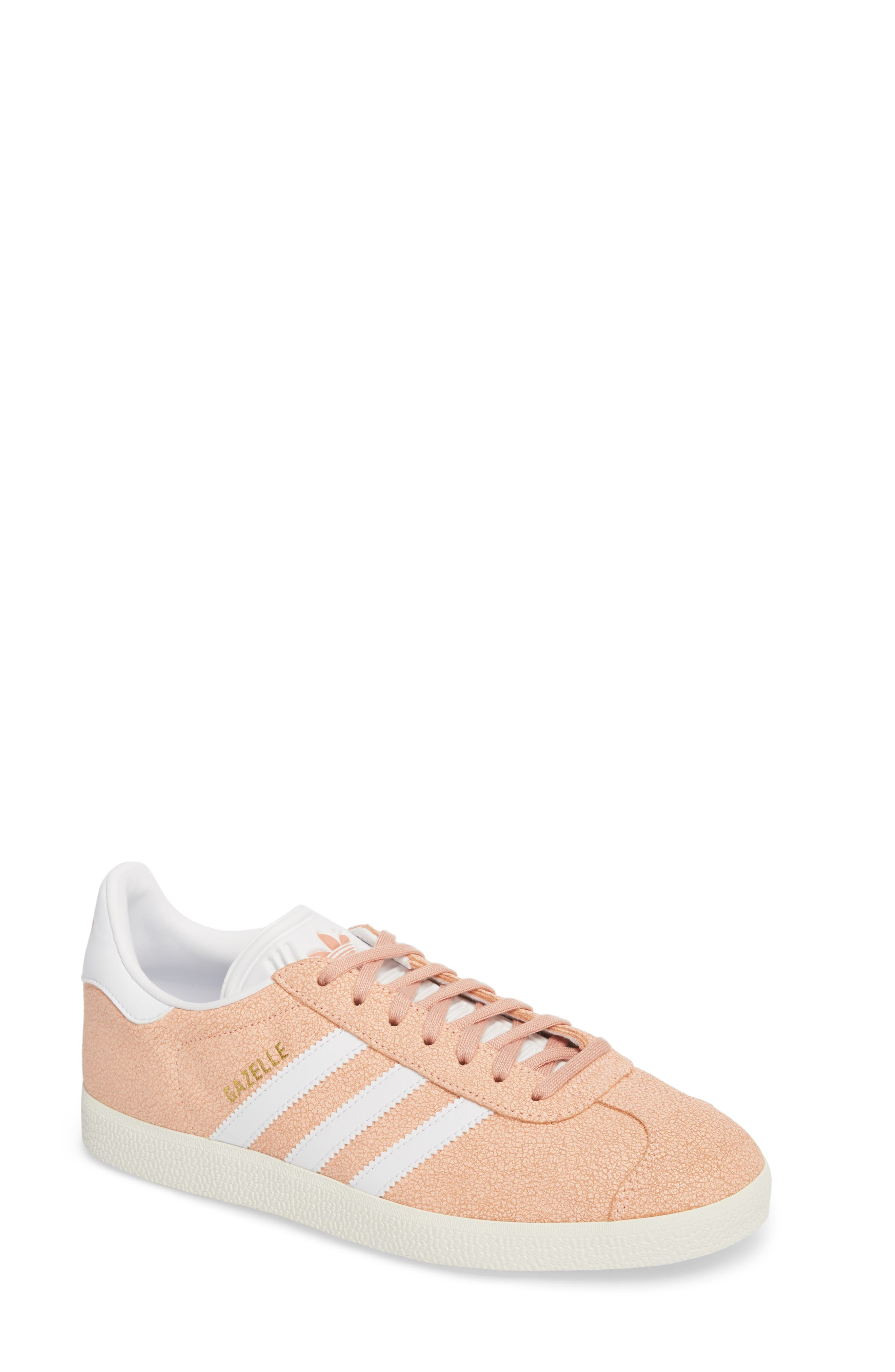 Gazelle Sneaker,                         Main,                         color, Clear Orange/ White/ Off White