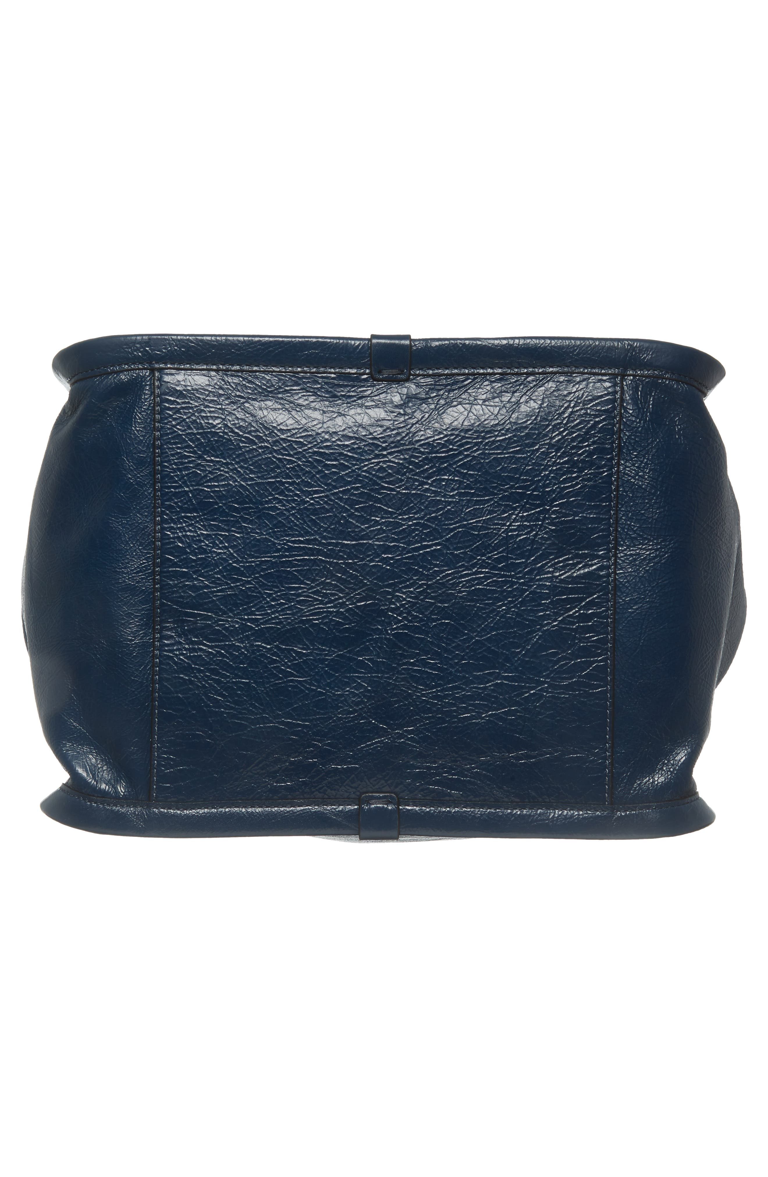 Leather Sport Tote,                             Alternate thumbnail 4, color,                             Island Blue