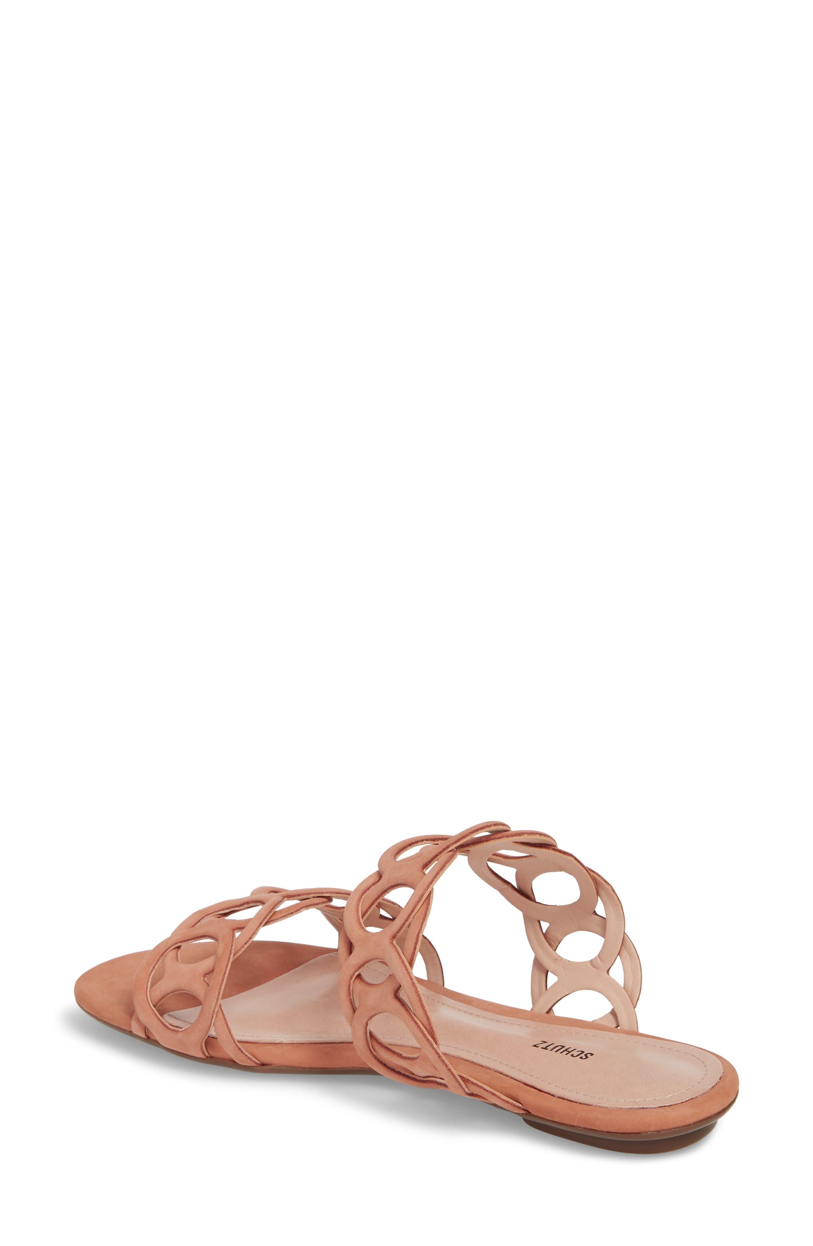 Yaslin Slide Sandal,                             Alternate thumbnail 2, color,                             Toasted Nut Leather