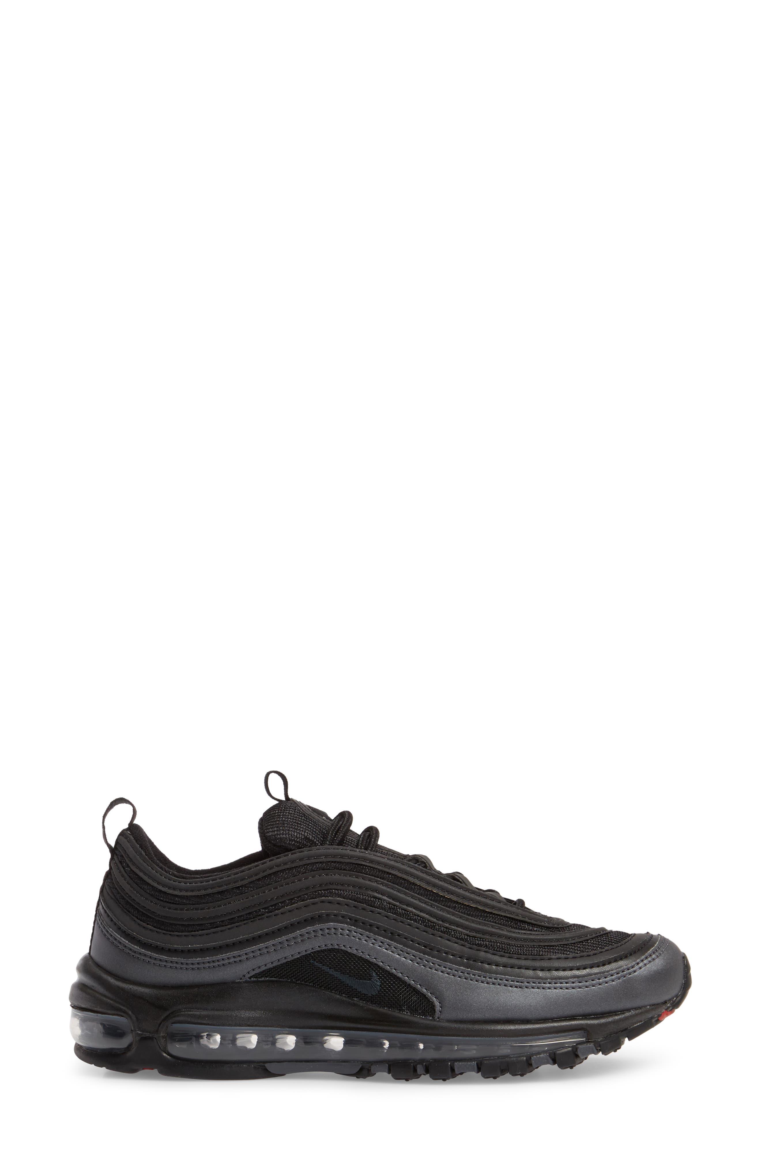 Air Max 97 Sneaker,                             Alternate thumbnail 3, color,                             Black/ Anthracite/ Hematite