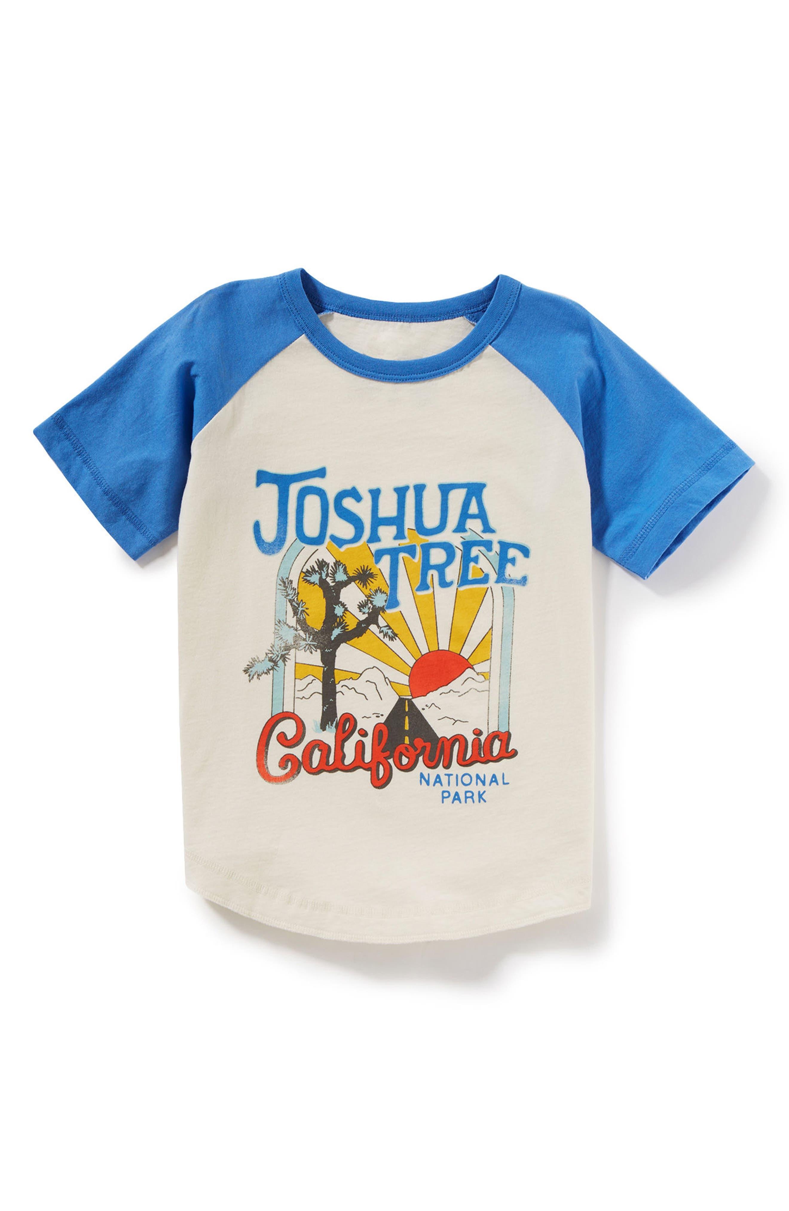 Joshua Tree Graphic Raglan T-Shirt,                         Main,                         color, Ivory