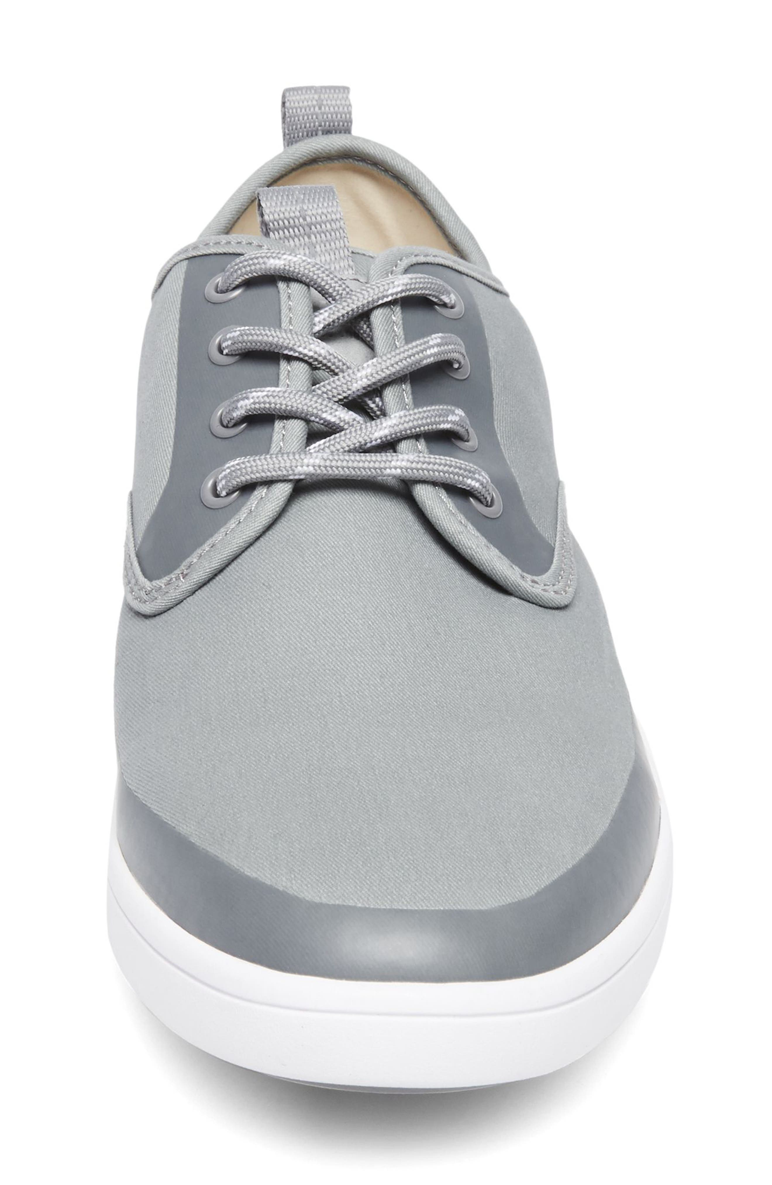 Fayette Low Top Sneaker,                             Alternate thumbnail 4, color,                             Grey Fabric