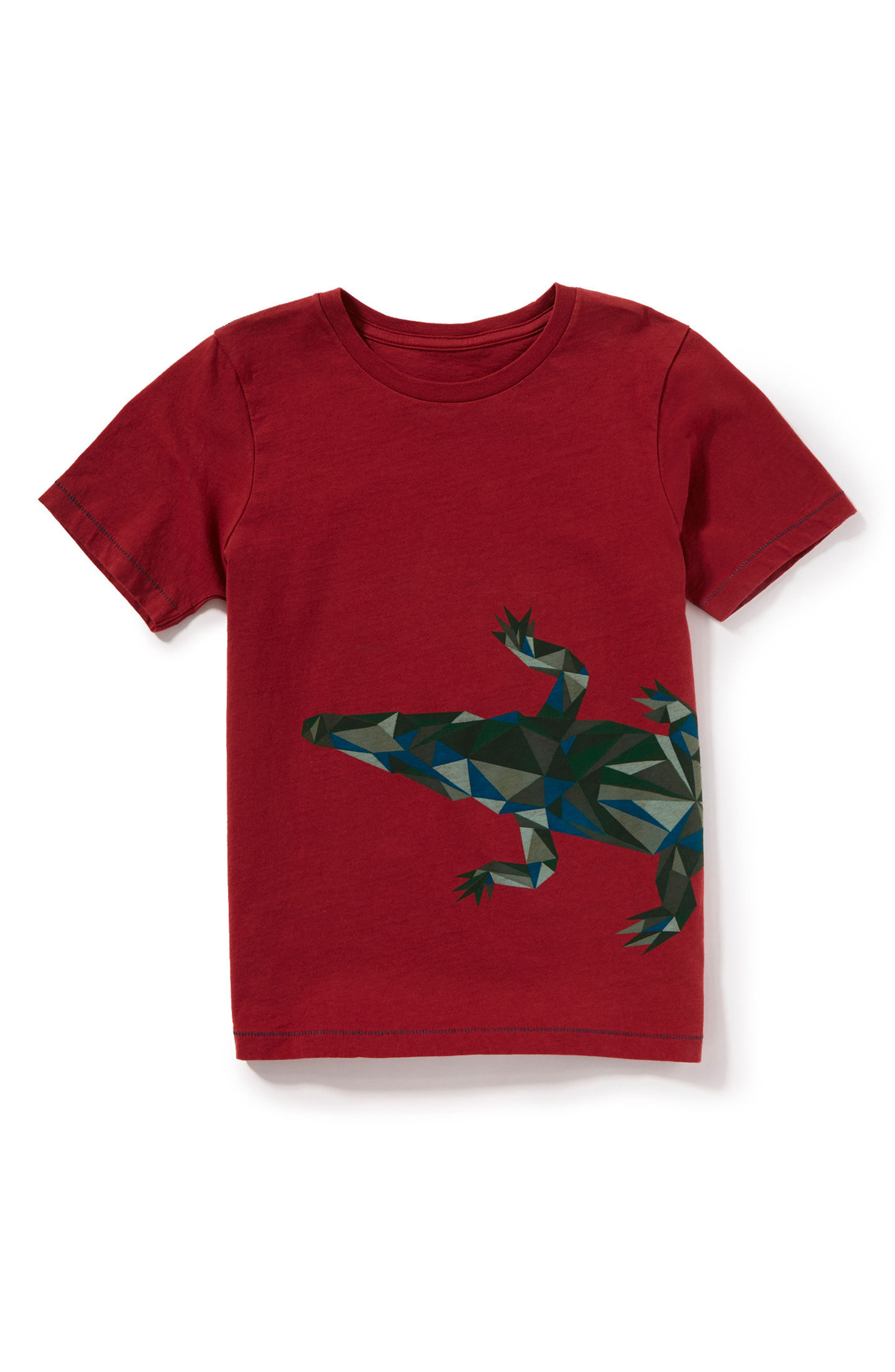 Crocodile Graphic T-Shirt,                         Main,                         color, Burgundy