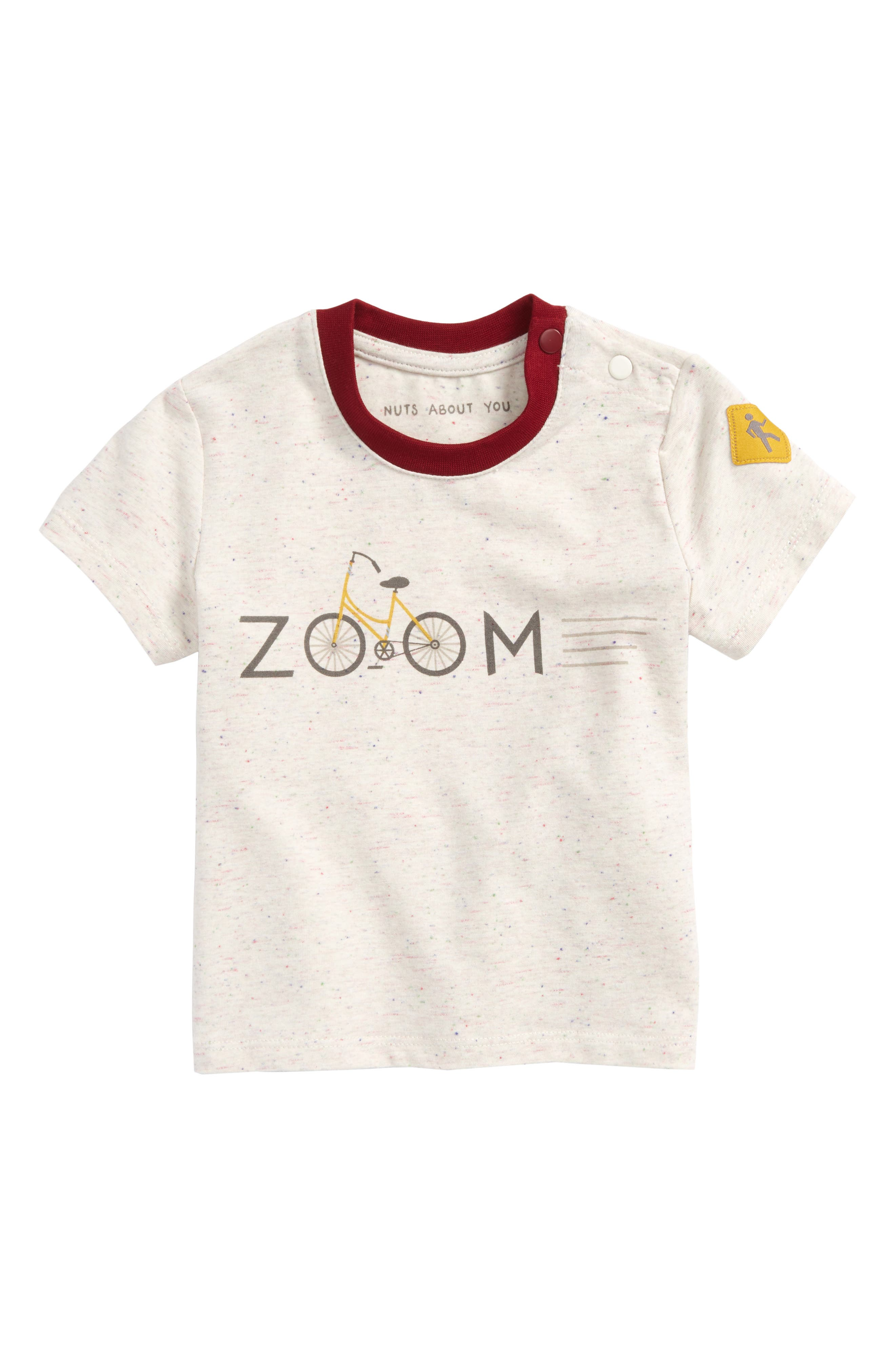 Zoom Graphic T-Shirt,                             Main thumbnail 1, color,                             White