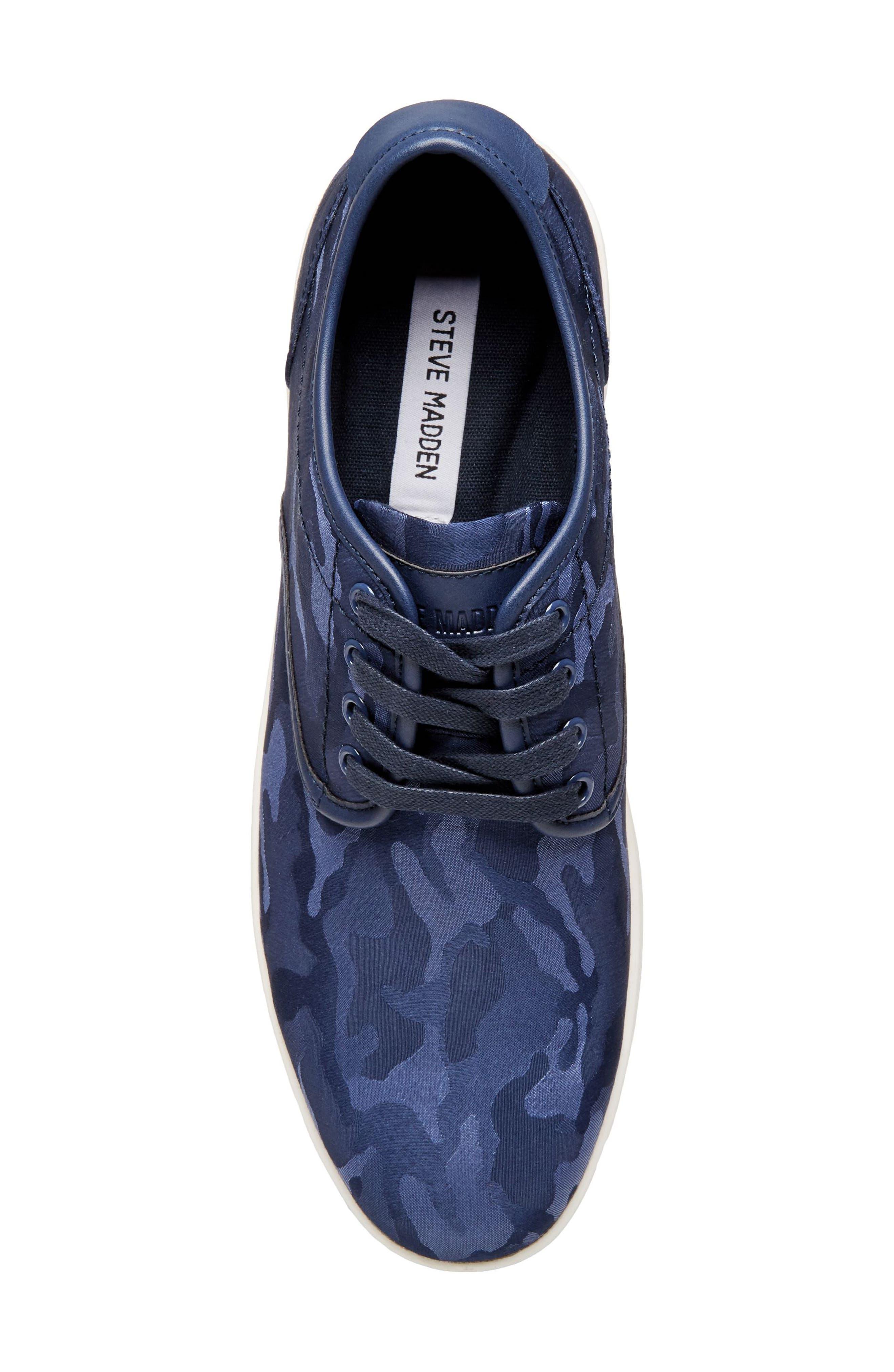 Frenzo Camo Sneaker,                             Alternate thumbnail 6, color,                             Blue Camo Fabric