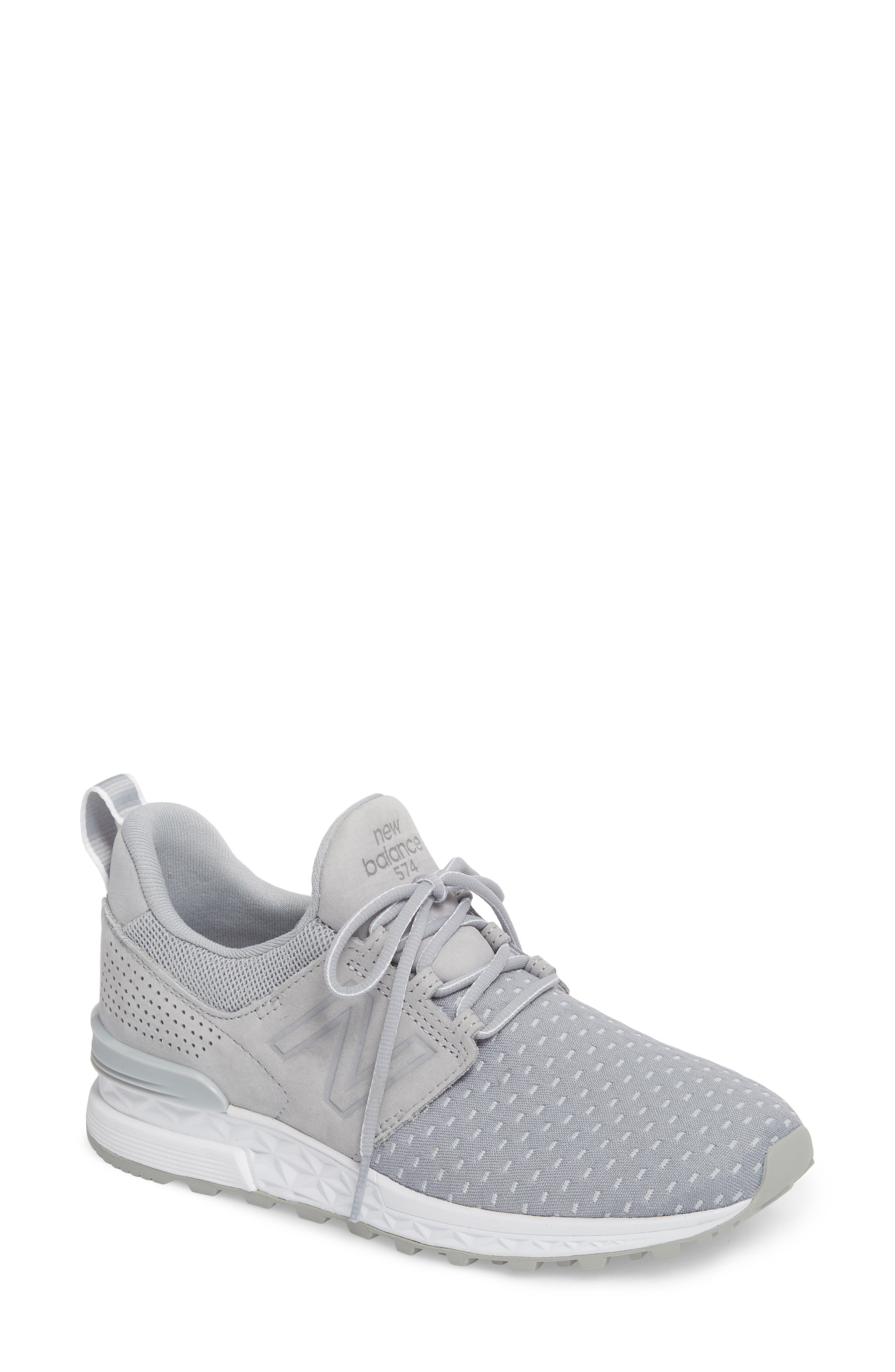 574 Sport Decon Fresh Foam Sneaker,                             Main thumbnail 1, color,                             Silver Mink
