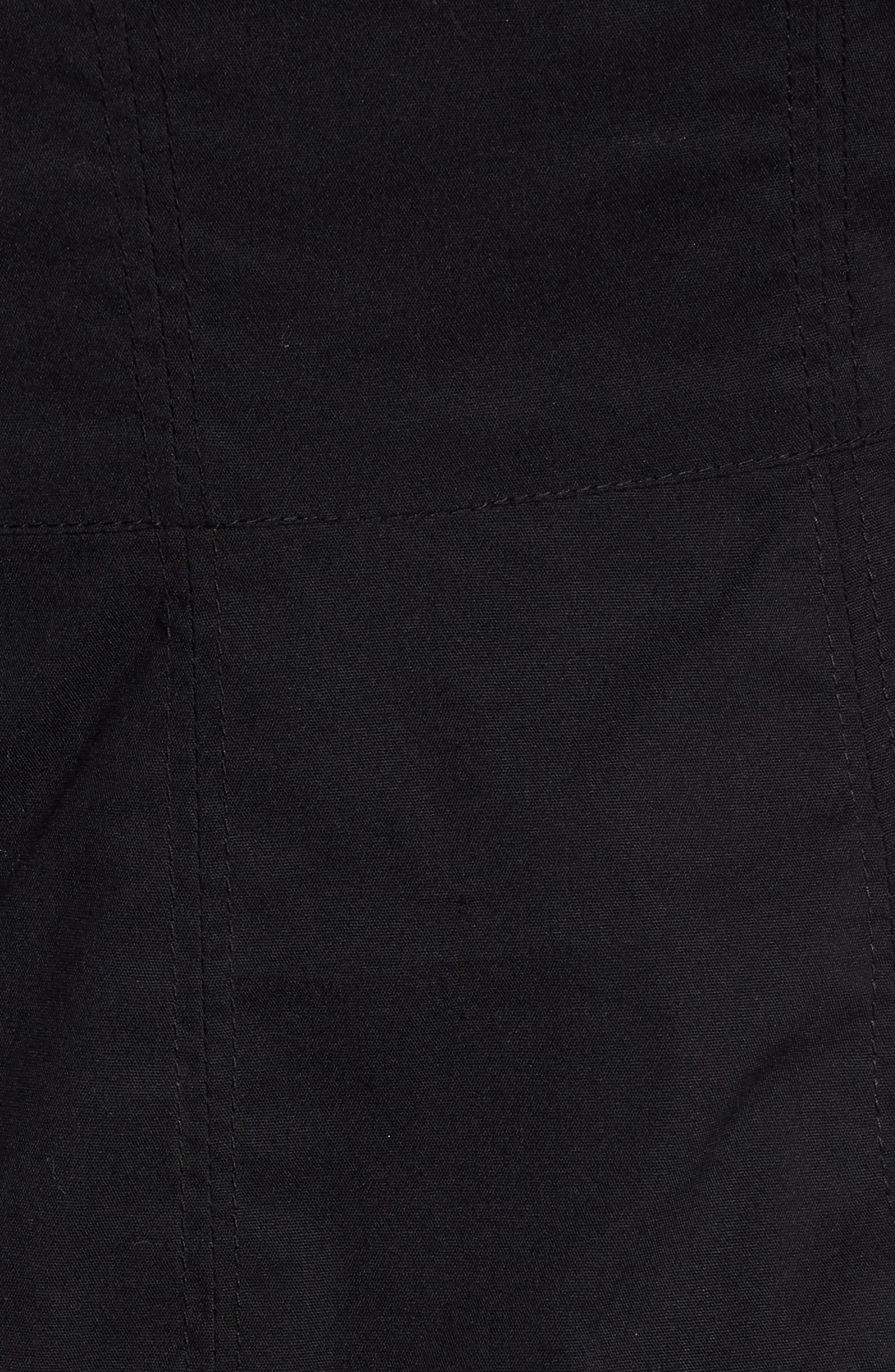 Ruffle One-Shoulder Dress,                             Alternate thumbnail 6, color,                             Black
