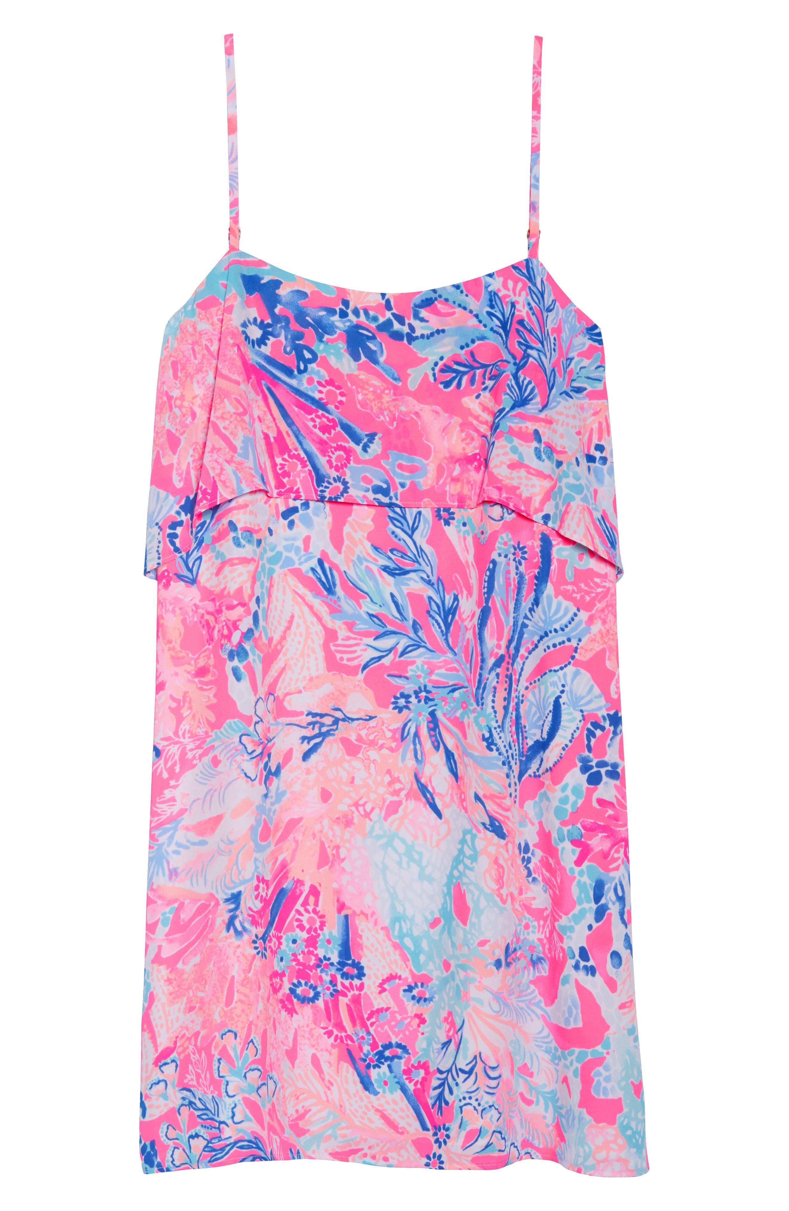 Lexi Shift Dress,                             Alternate thumbnail 6, color,                             Light Pascha Pink Aquadesiac