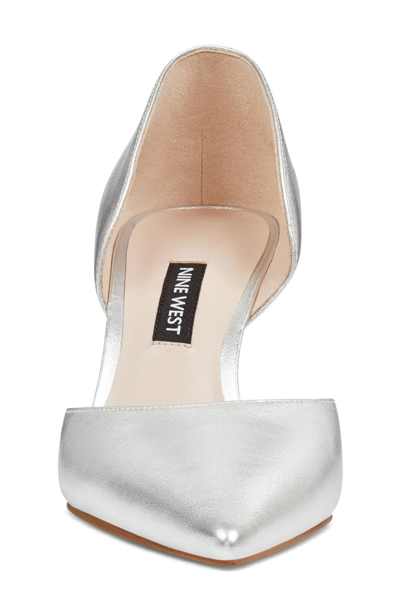 Mossiel Open Sided Pump,                             Alternate thumbnail 4, color,                             Silver