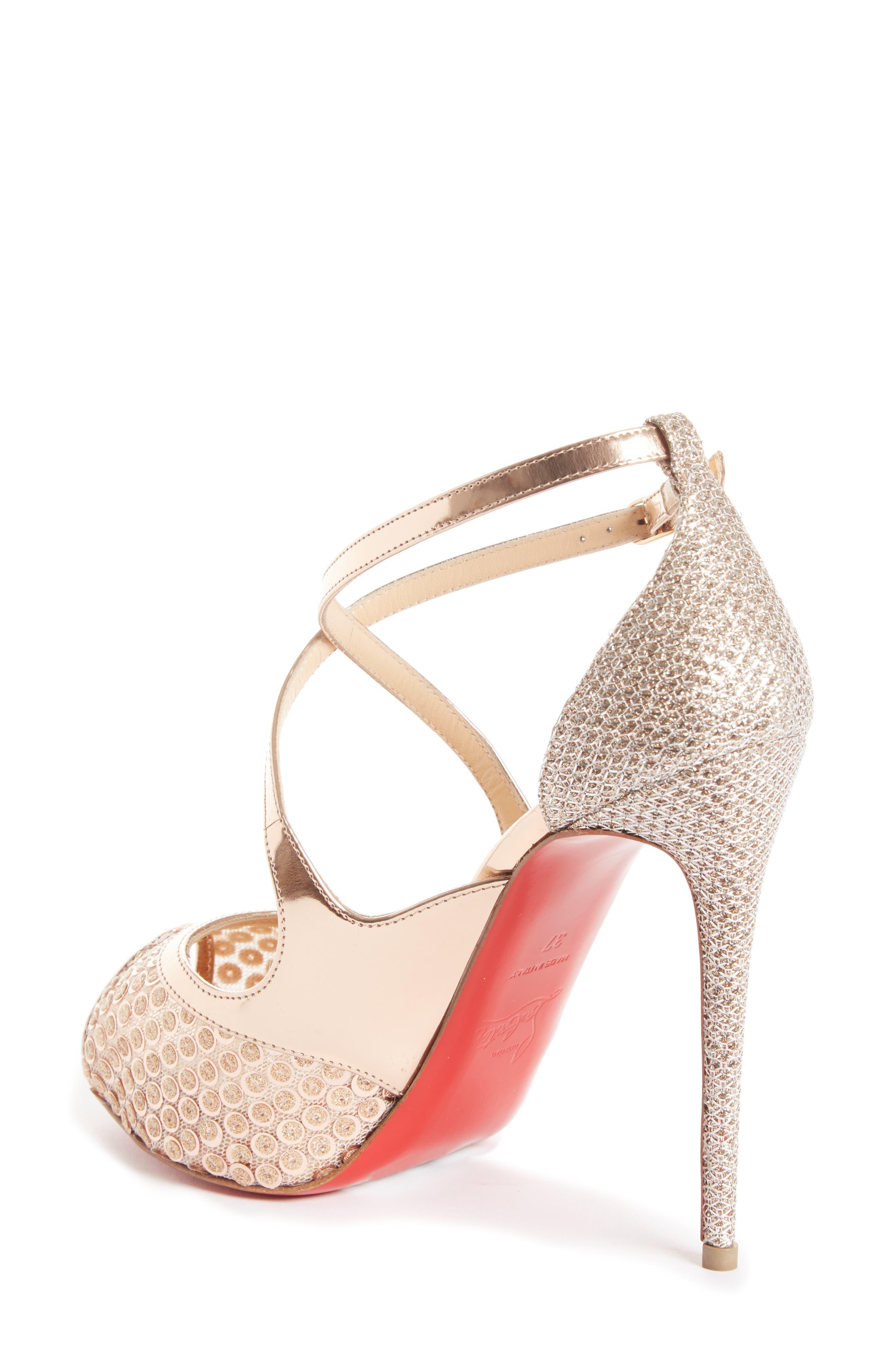 Womens Mira Bella Mesh & Specchio Leather Platform Sandals Christian Louboutin QNqgMxG