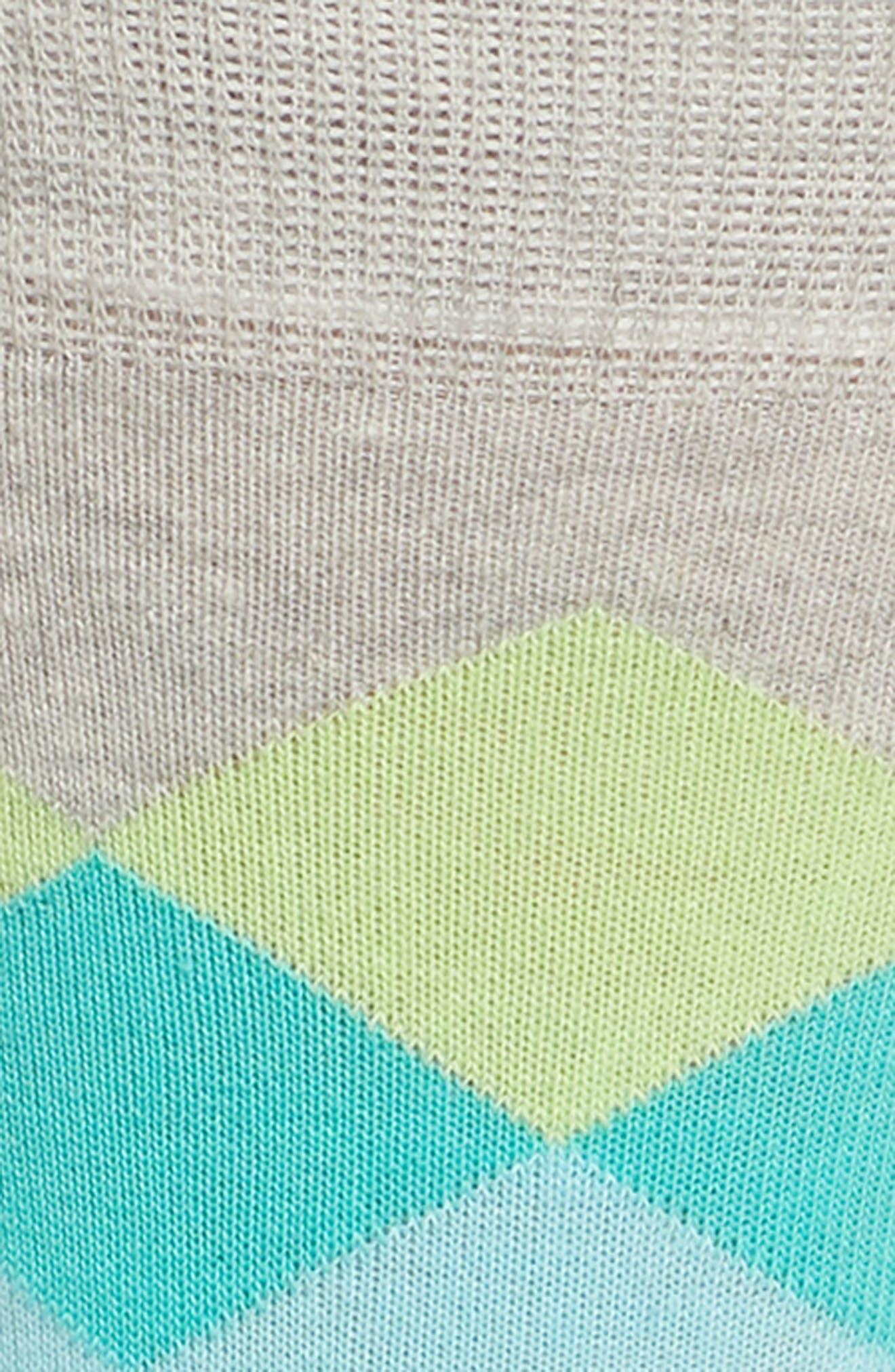 Faded Diamond Crew Socks,                             Alternate thumbnail 2, color,                             Blk/ Bright