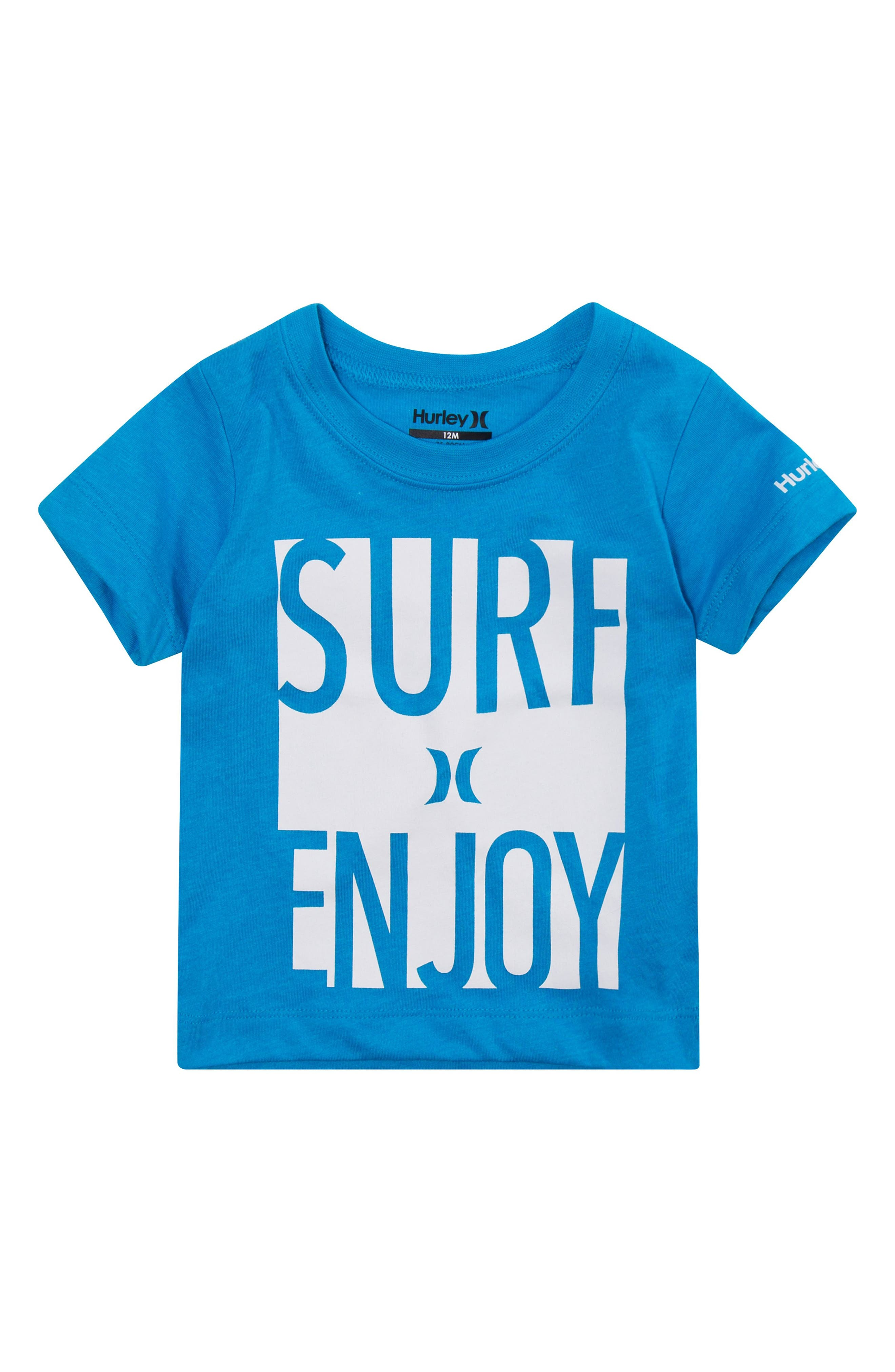 Surf & Enjoy Graphic T-Shirt,                         Main,                         color, Blue Lagoon Heather