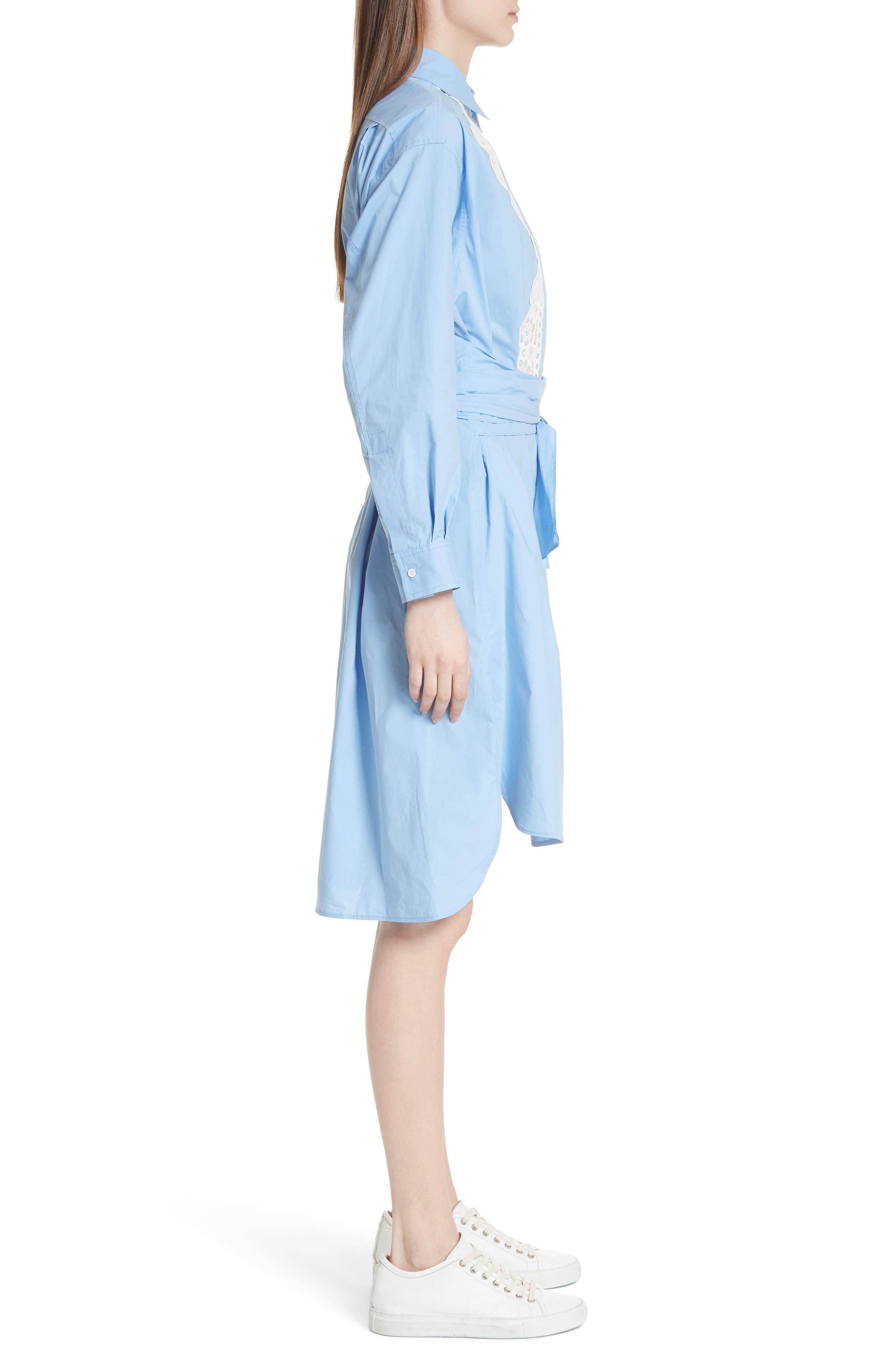 Alternate Image 3  - sandro Bleu Ciel Cotton Shirtdress