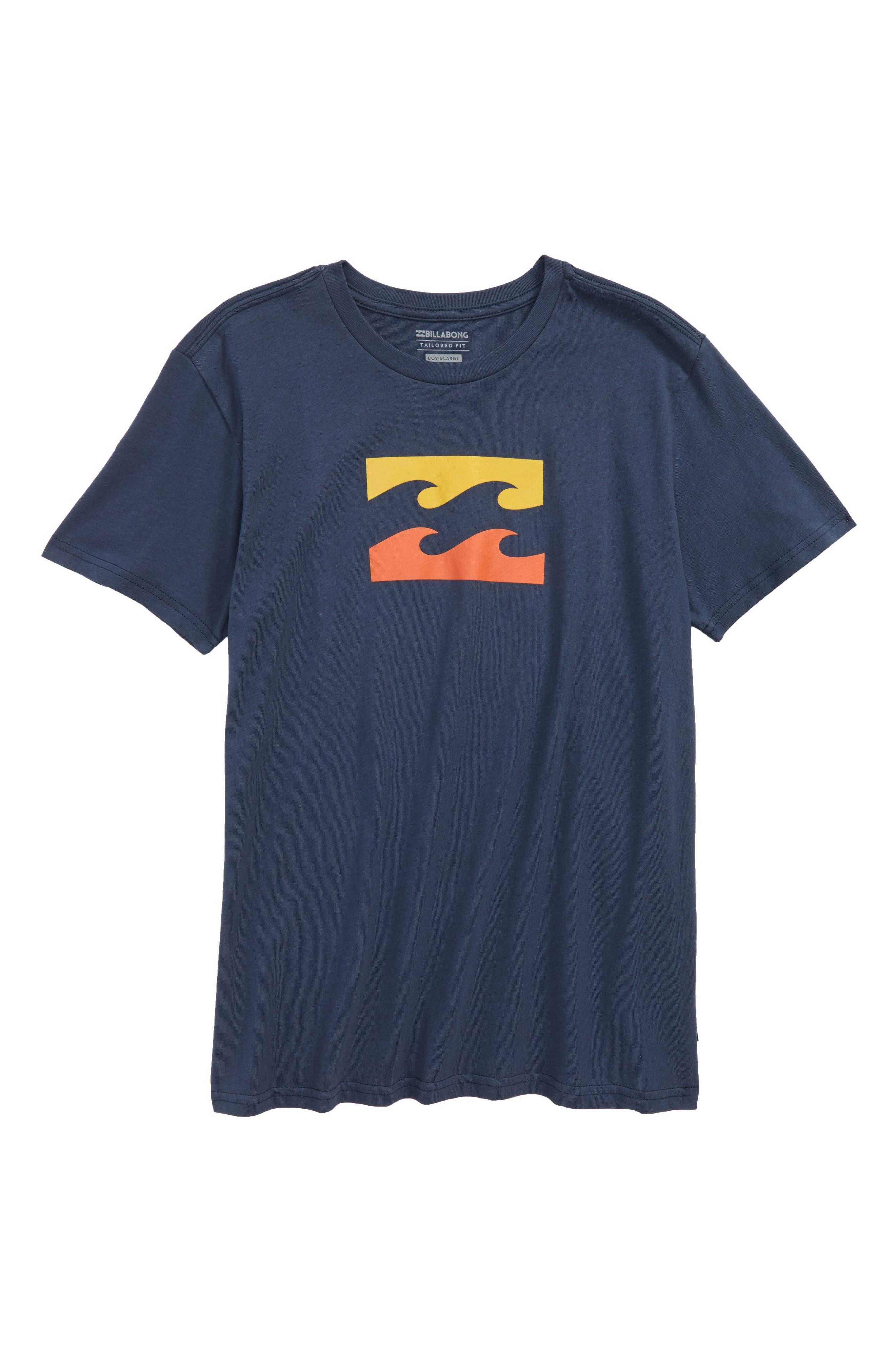 Wave T-Shirt,                         Main,                         color, Navy