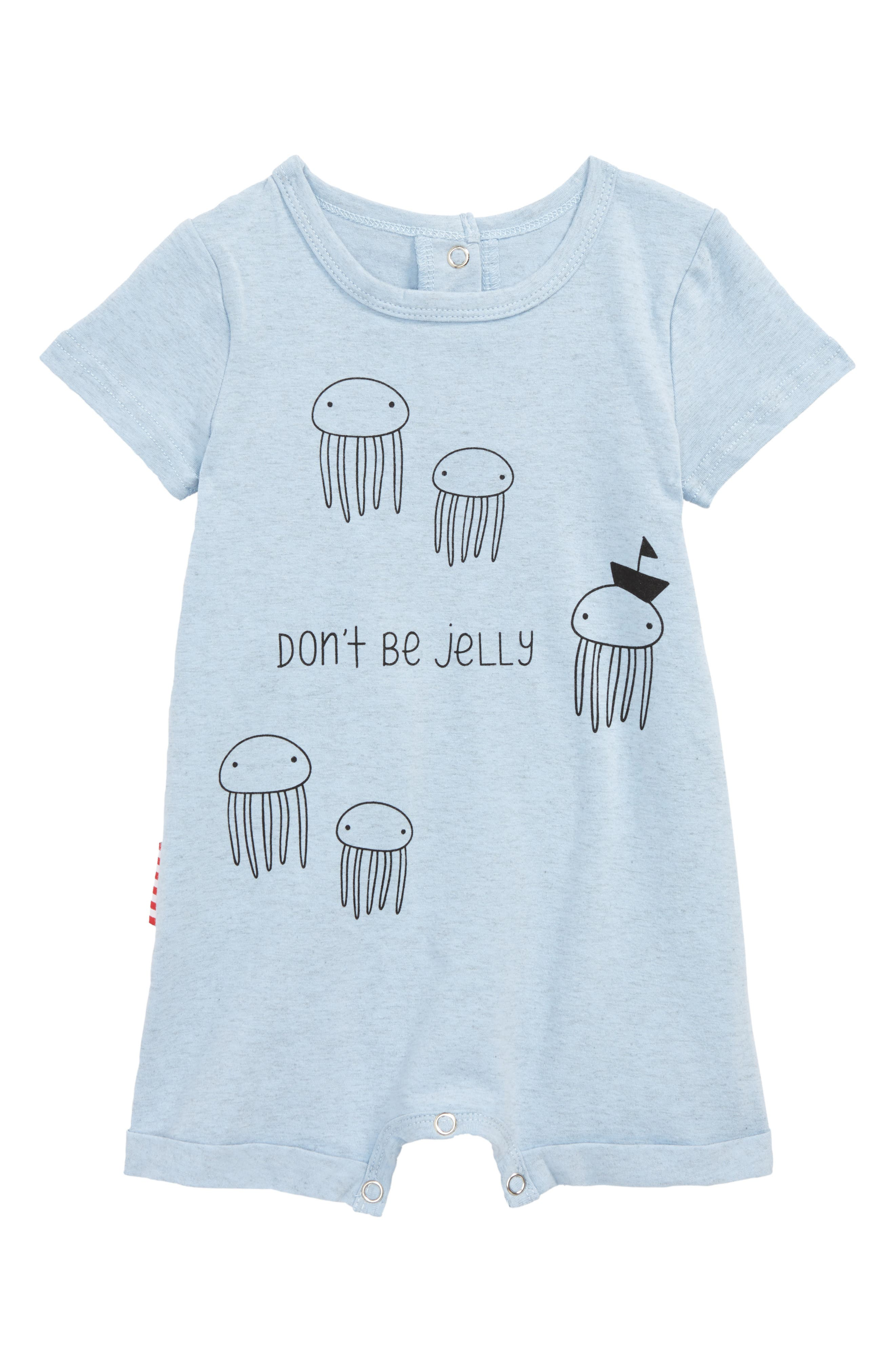 Don't Be Jelly Romper,                             Main thumbnail 1, color,                             Blue Marl