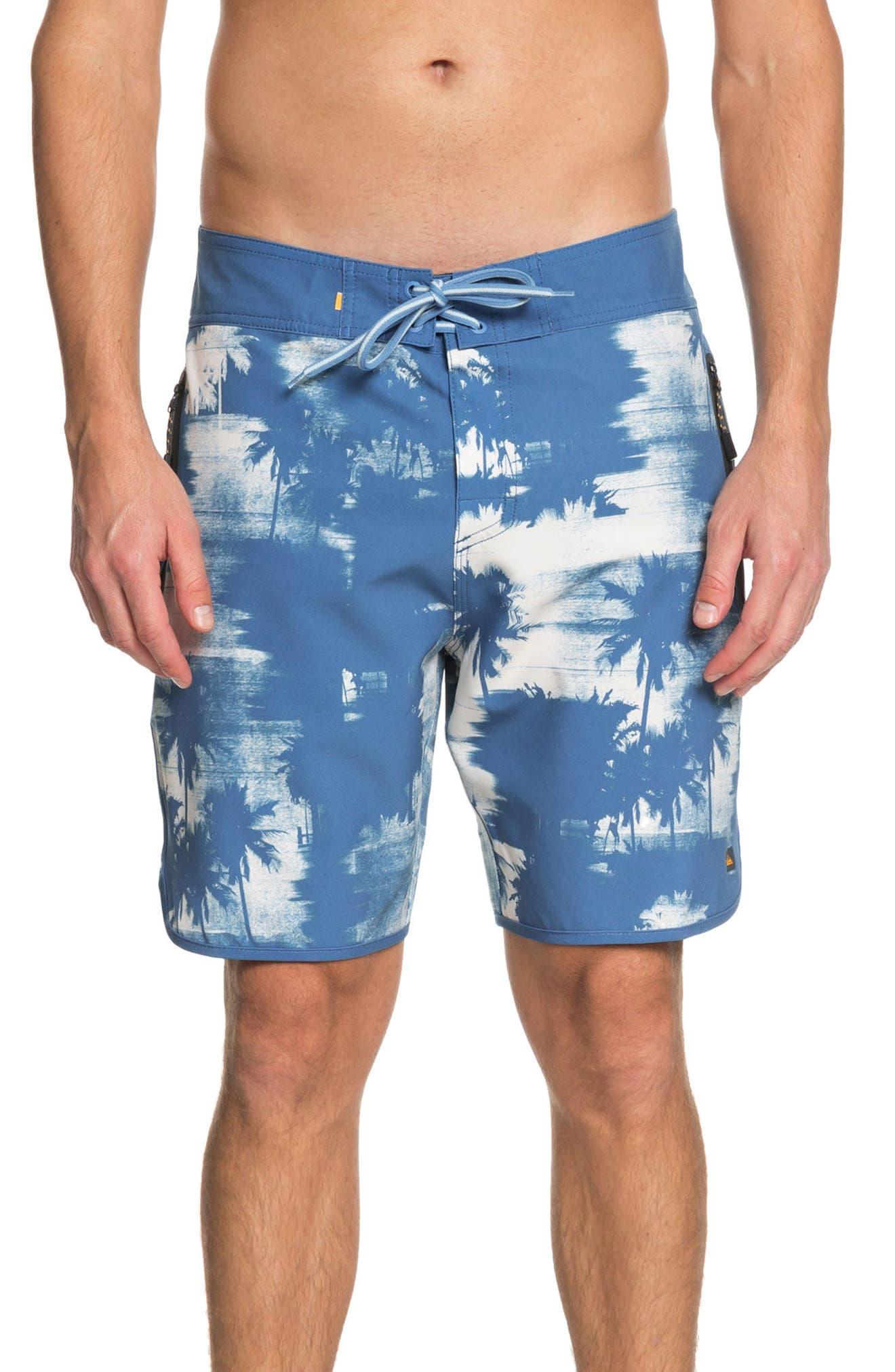 Paokalani Board Shorts,                             Main thumbnail 1, color,                             Deep Water